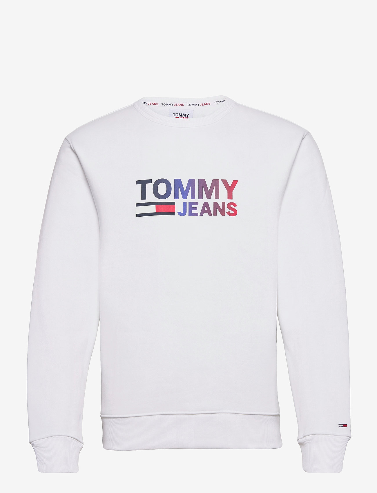 Tommy Jeans - TJM OMBRE CORP LOGO CREW - kläder - white - 0