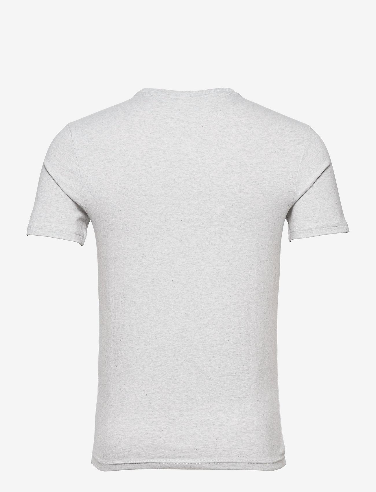 Tommy Jeans - TJM SCRIPT BOX LOGO TEE - kortärmade t-shirts - silver grey htr - 1