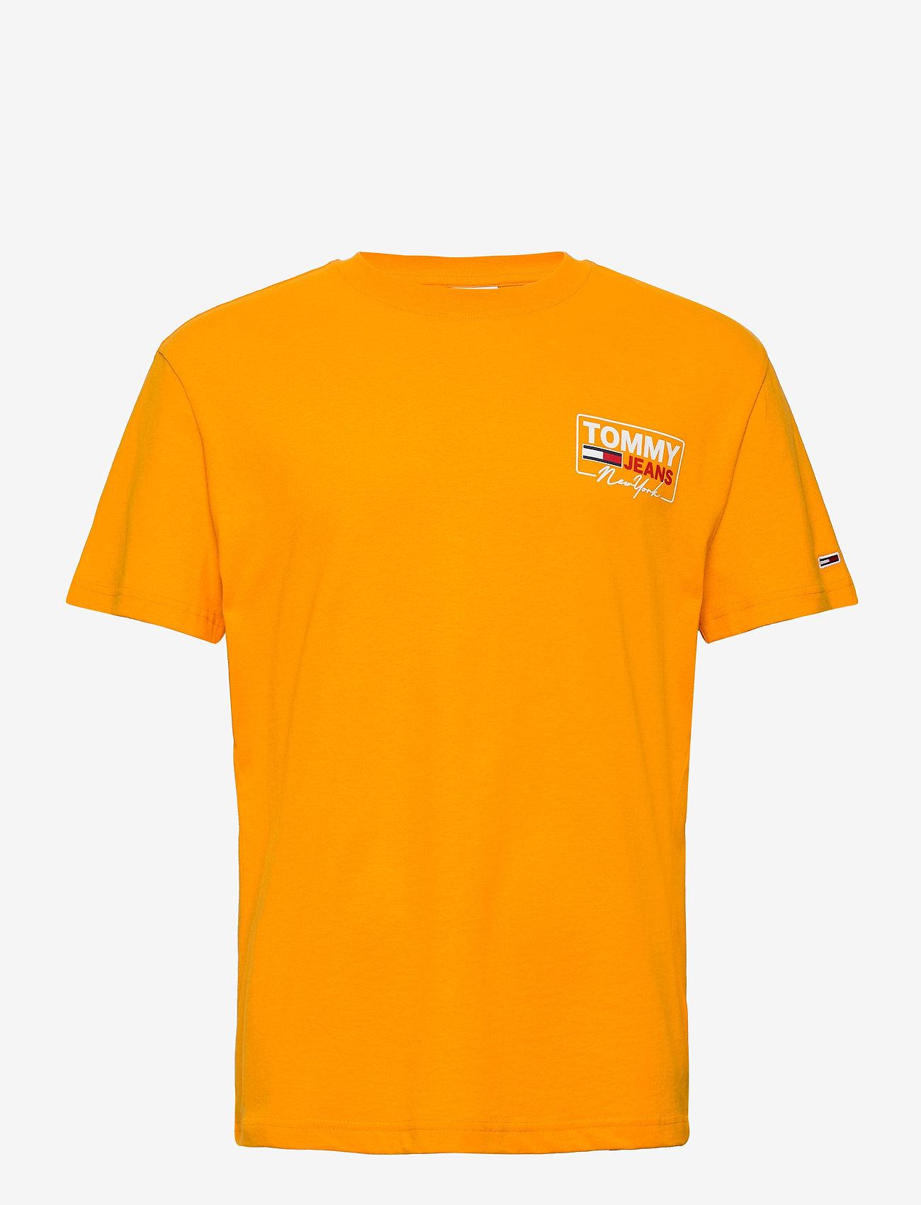 Tommy Jeans - TJM NY SCRIPT BOX BACK LOGO TEE - korte mouwen - florida orange - 0