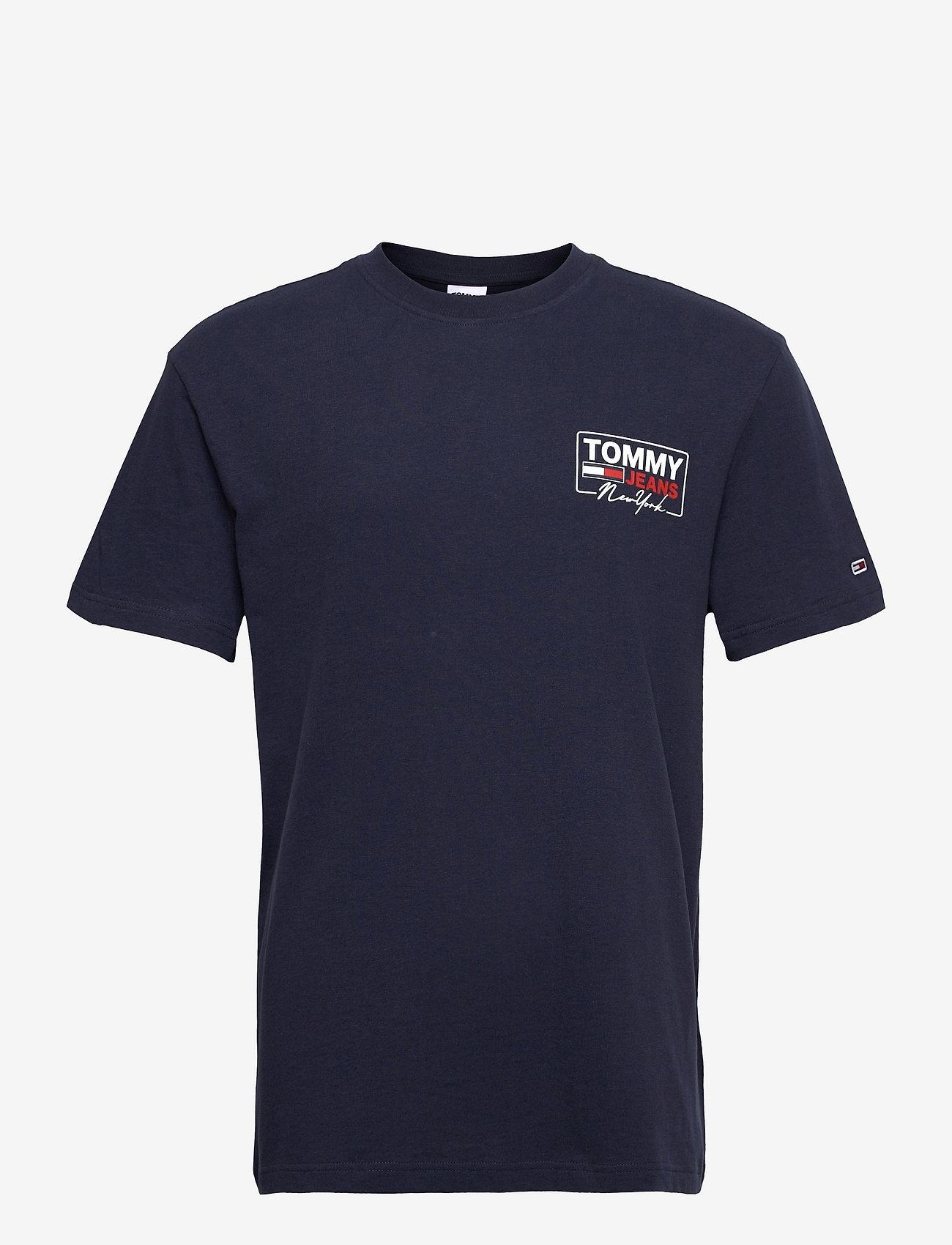 Tommy Jeans - TJM NY SCRIPT BOX BACK LOGO TEE - kortärmade t-shirts - twilight navy - 0