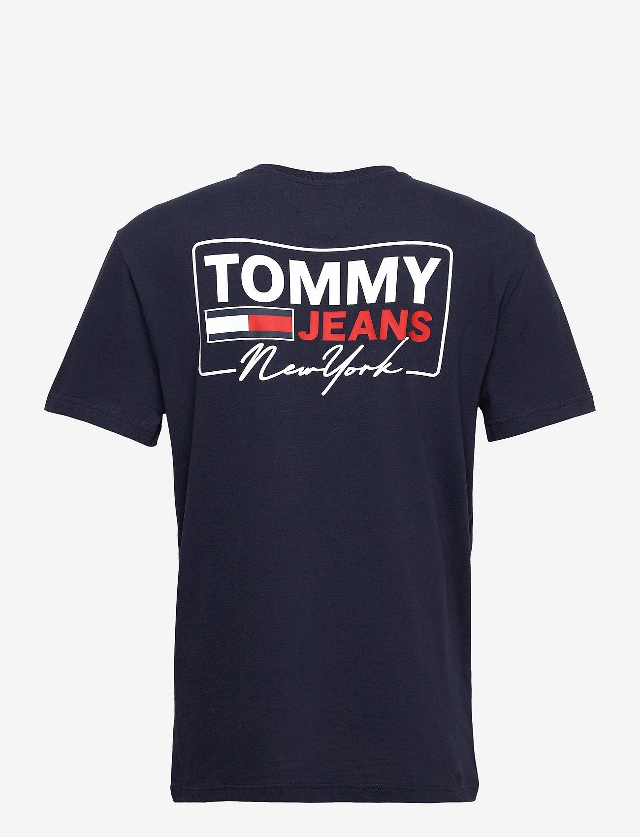 Tommy Jeans - TJM NY SCRIPT BOX BACK LOGO TEE - kortärmade t-shirts - twilight navy - 1