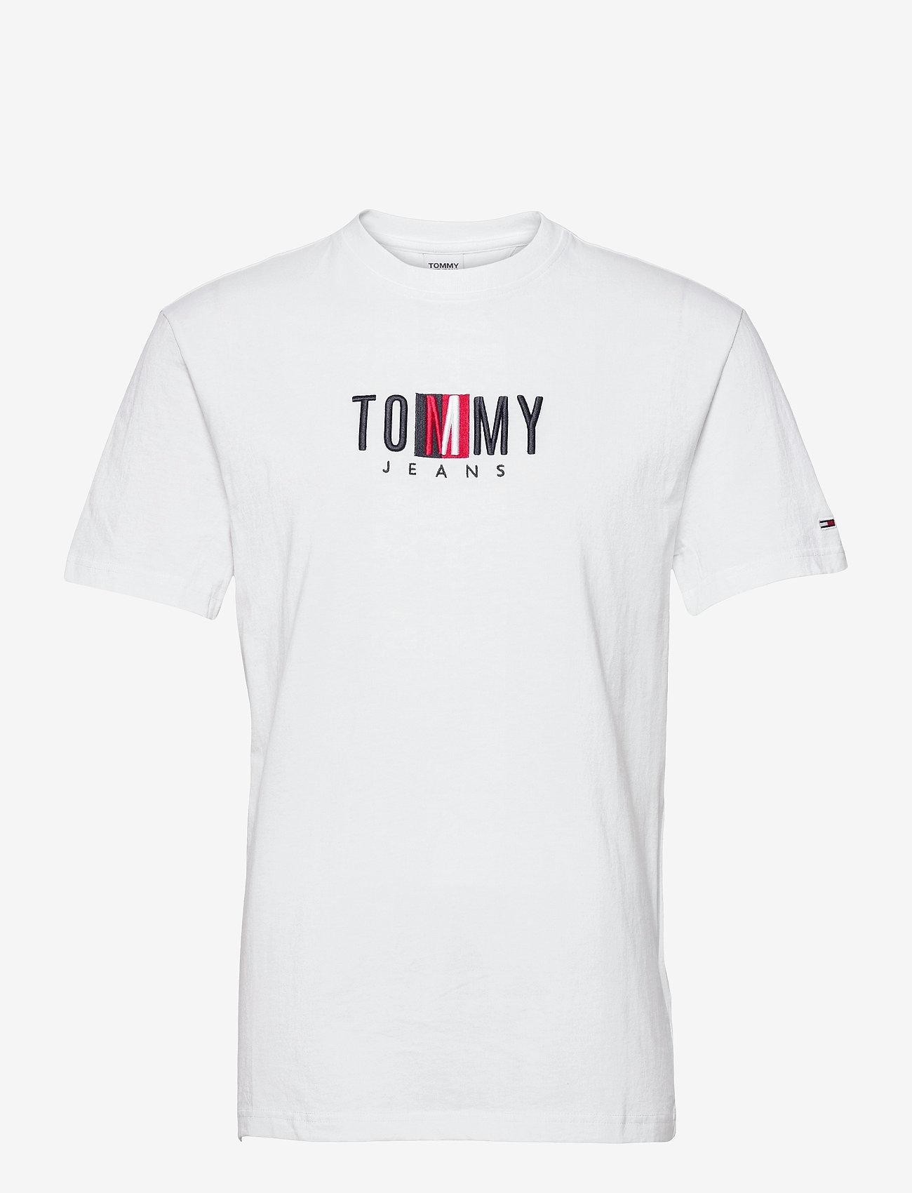 Tommy Jeans - TJM TIMELESS TOMMY BOX TEE - kortärmade t-shirts - white - 0