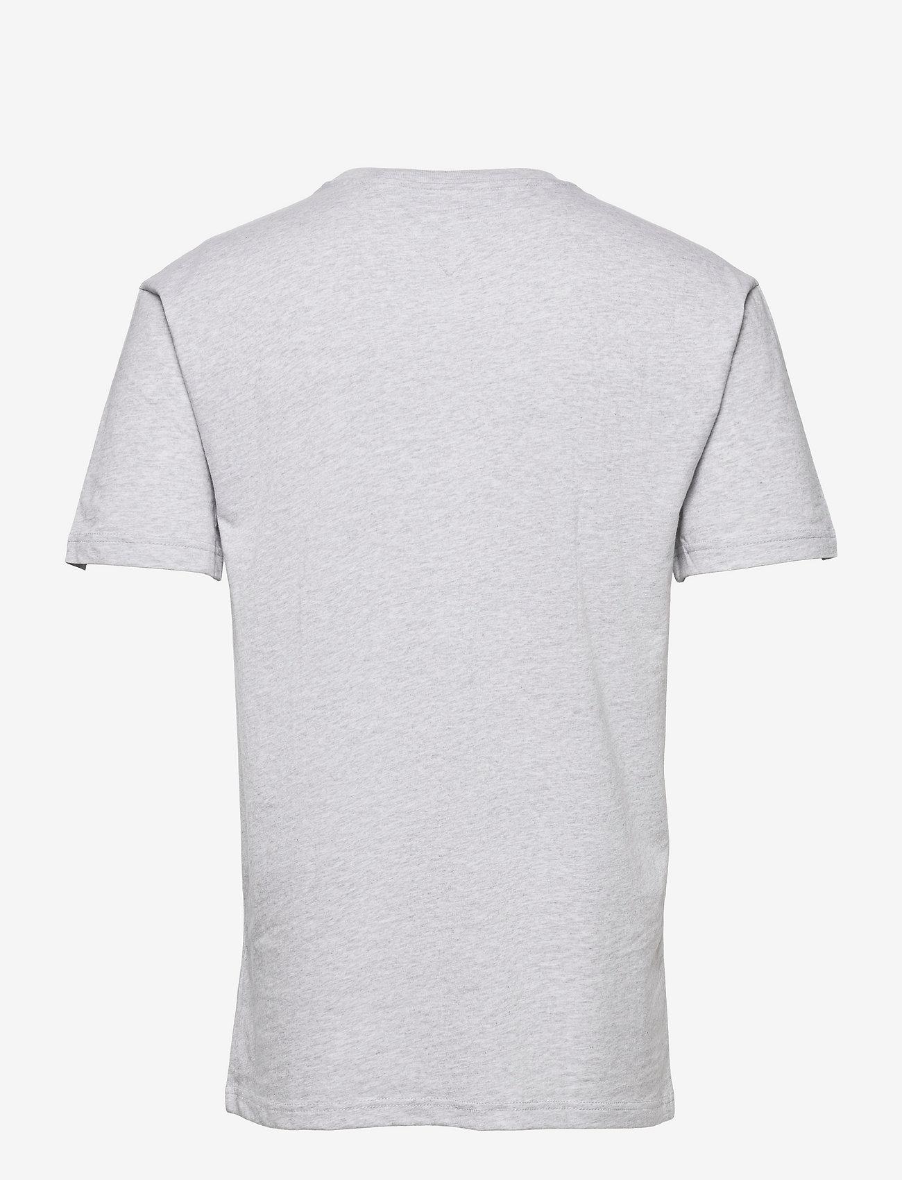 Tommy Jeans - TJM VARSITY BBALL GRAPHIC TEE - kortärmade t-shirts - silver grey htr - 1