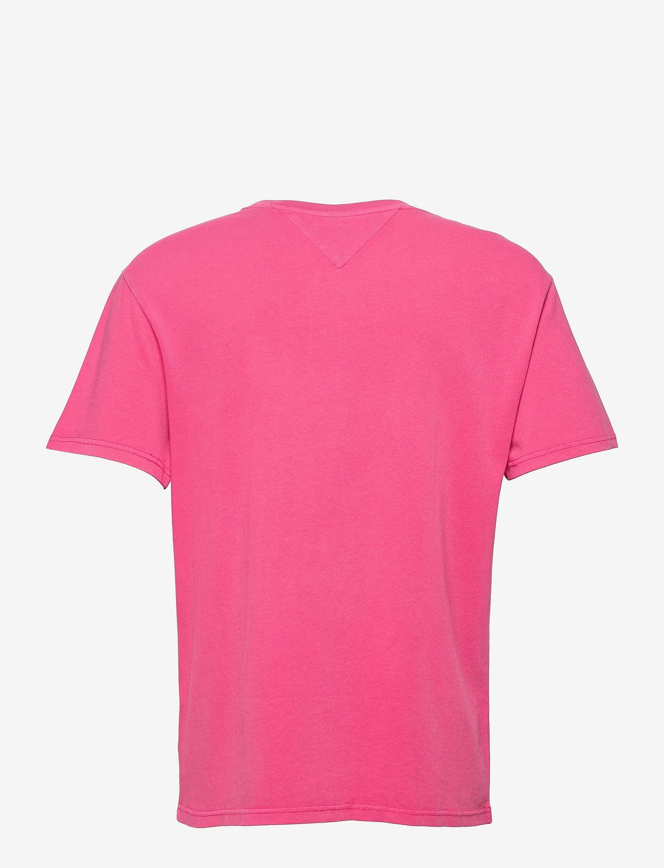 Tommy Jeans - TJM FADED FLAG SCRIPT TEE - kortärmade t-shirts - bright cerise pink - 1