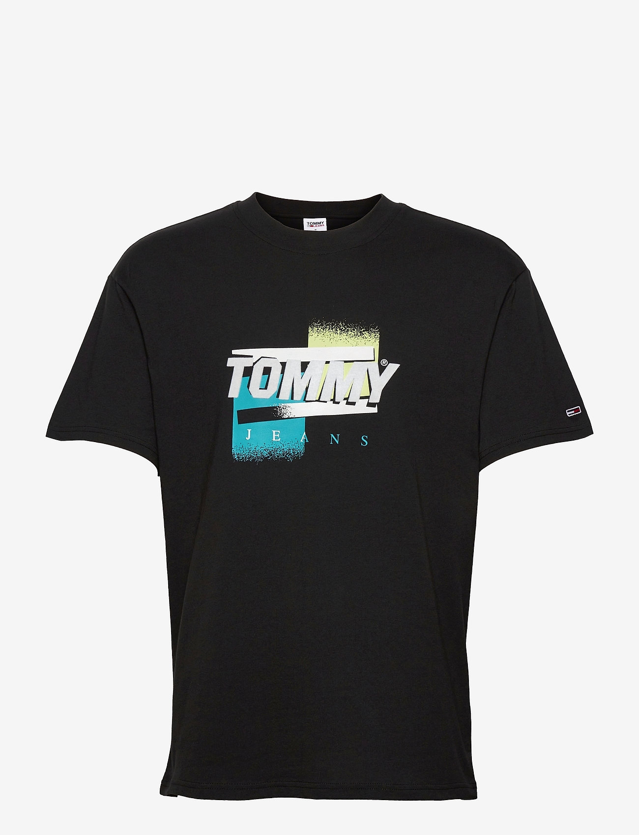 Tommy Jeans - TJM FADED COLOR GRAPHIC TEE - kortärmade t-shirts - black - 0