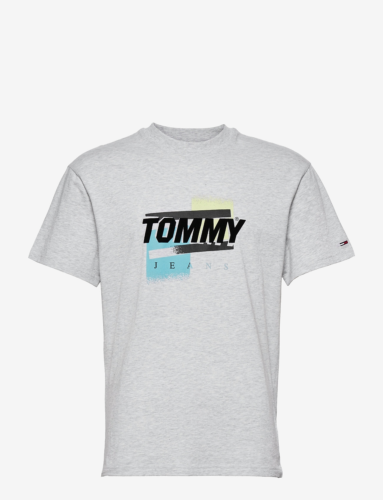 Tommy Jeans - TJM FADED COLOR GRAPHIC TEE - kortärmade t-shirts - silver grey htr - 0
