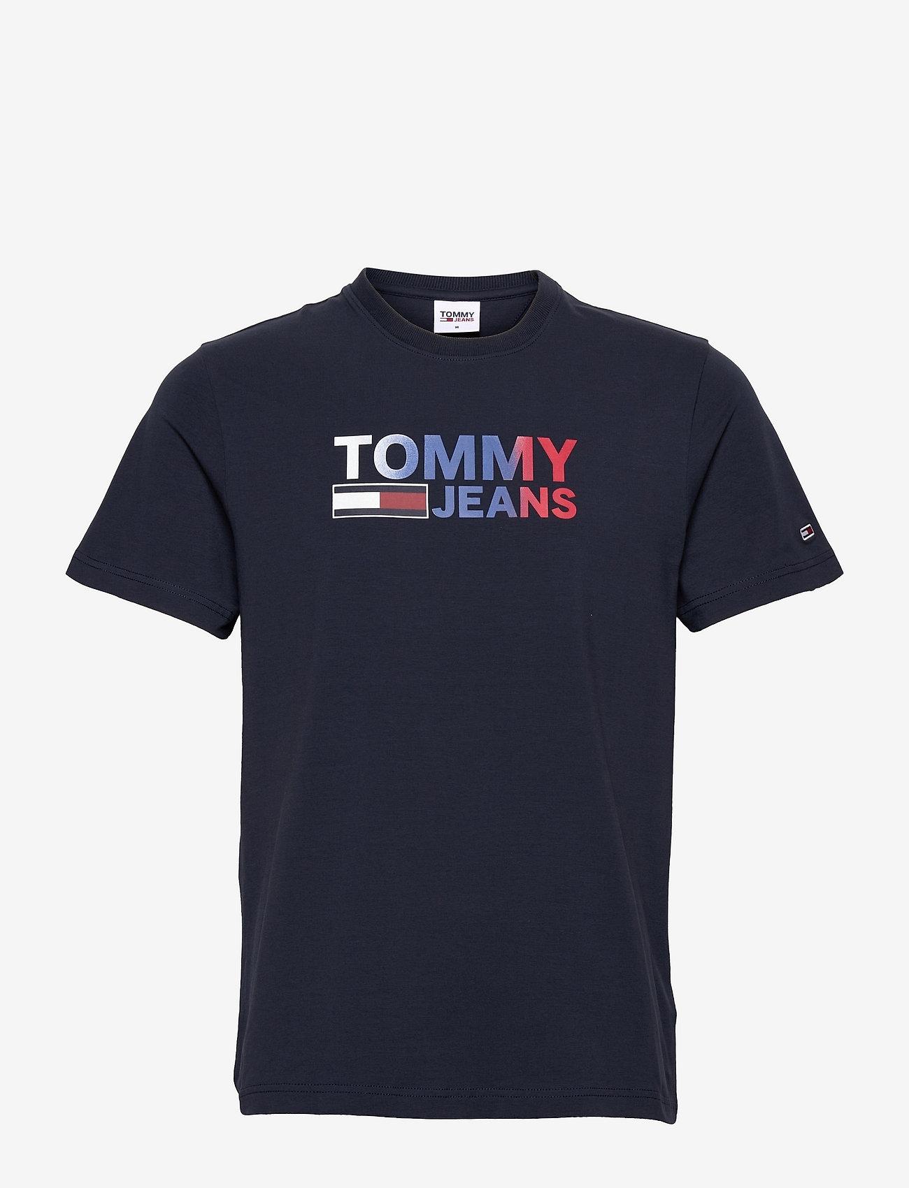 Tommy Jeans - TJM COLOR CORP LOGO TEE - kortärmade t-shirts - twilight navy - 0