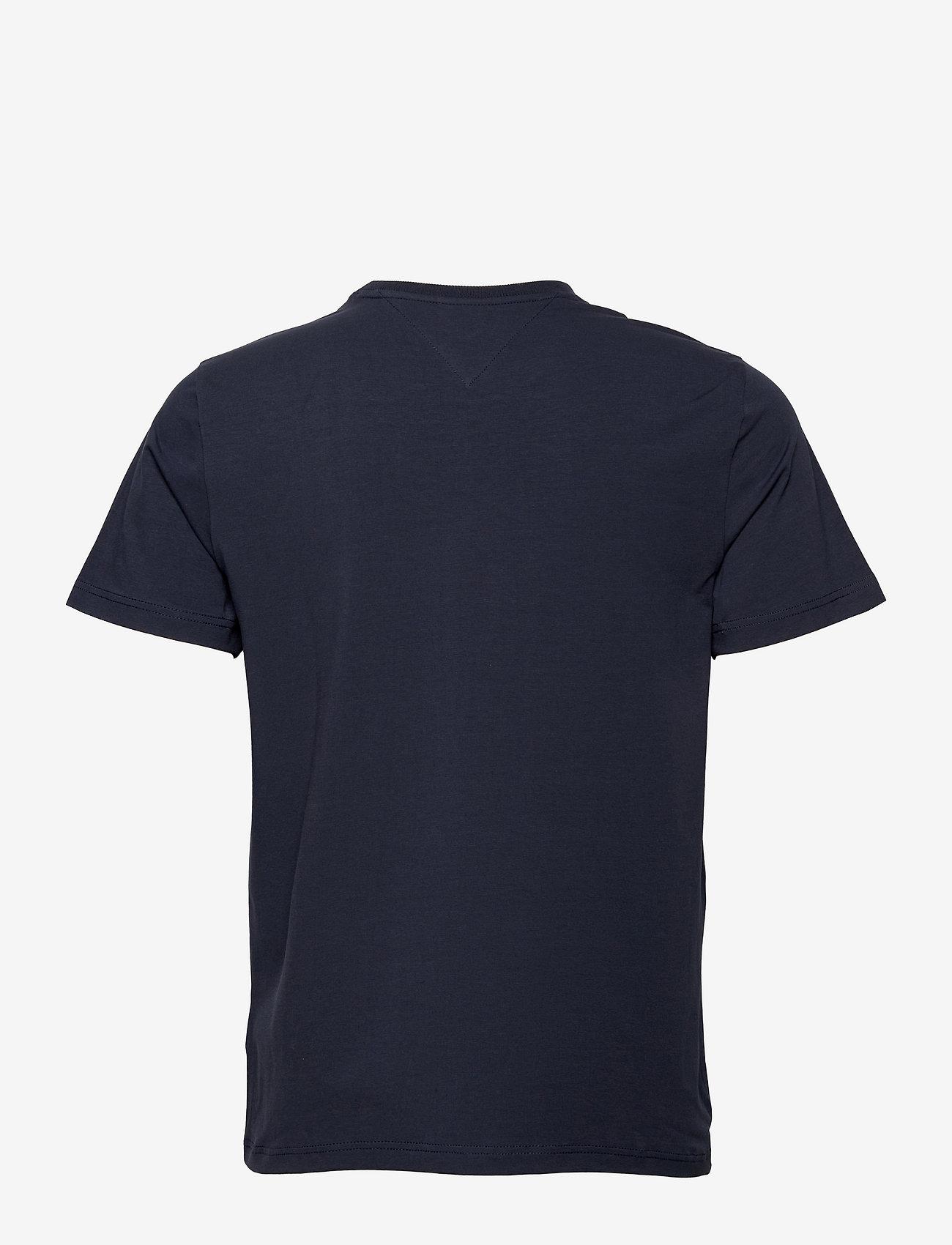Tommy Jeans - TJM COLOR CORP LOGO TEE - kortärmade t-shirts - twilight navy - 1