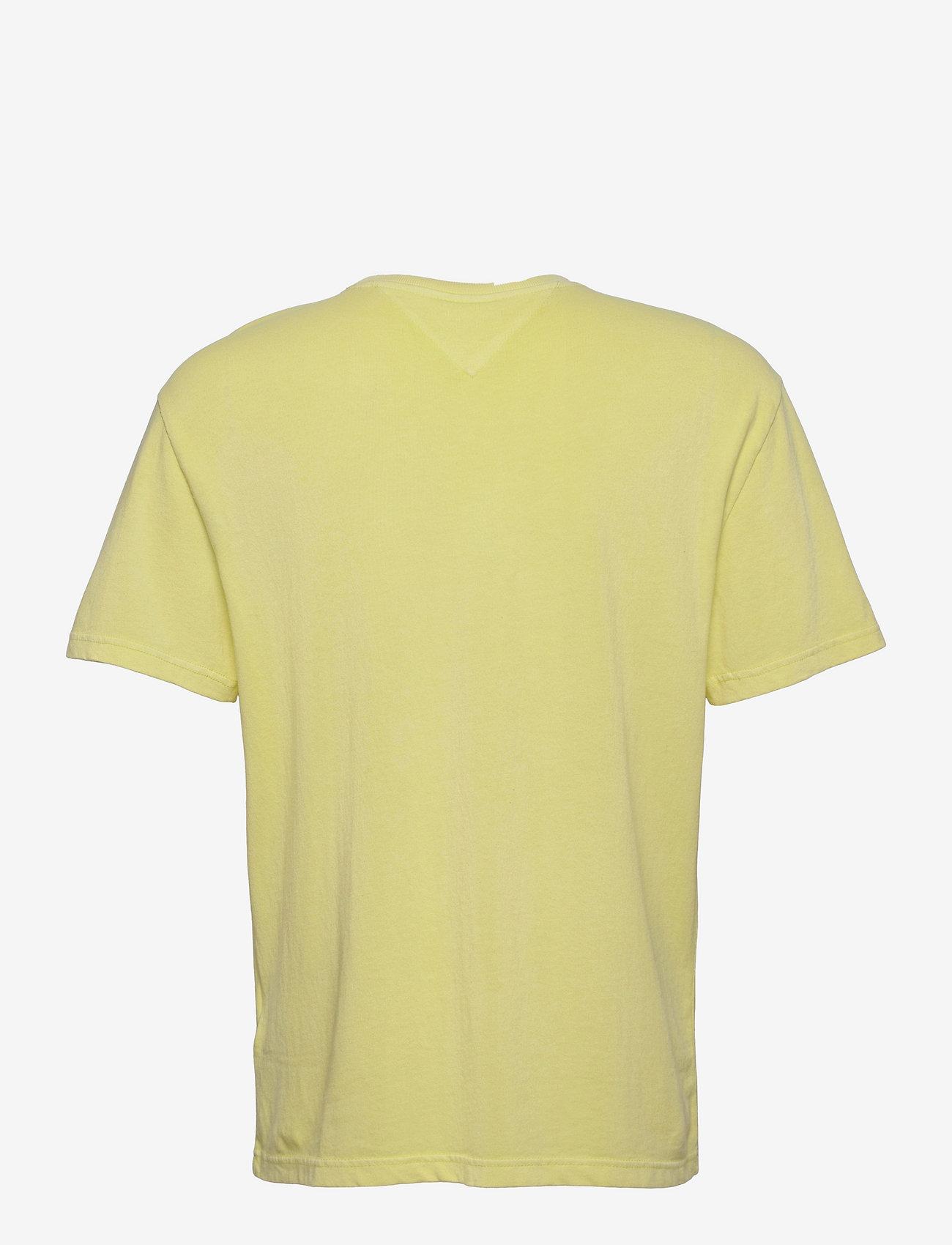 Tommy Jeans - TJM TONAL FLAG TEE - kortärmade t-shirts - faded lime - 1