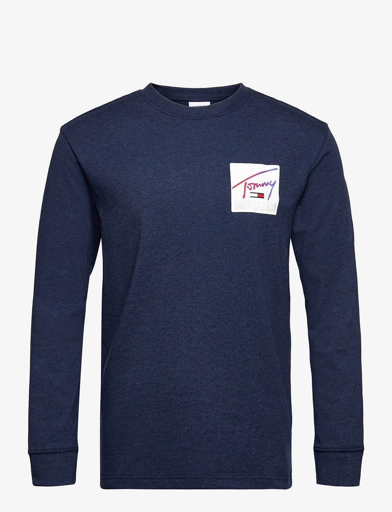 Tommy Jeans - TJM TOMMY BASKETBALL LONGSLEEVE - basic t-shirts - twilight navy - 0