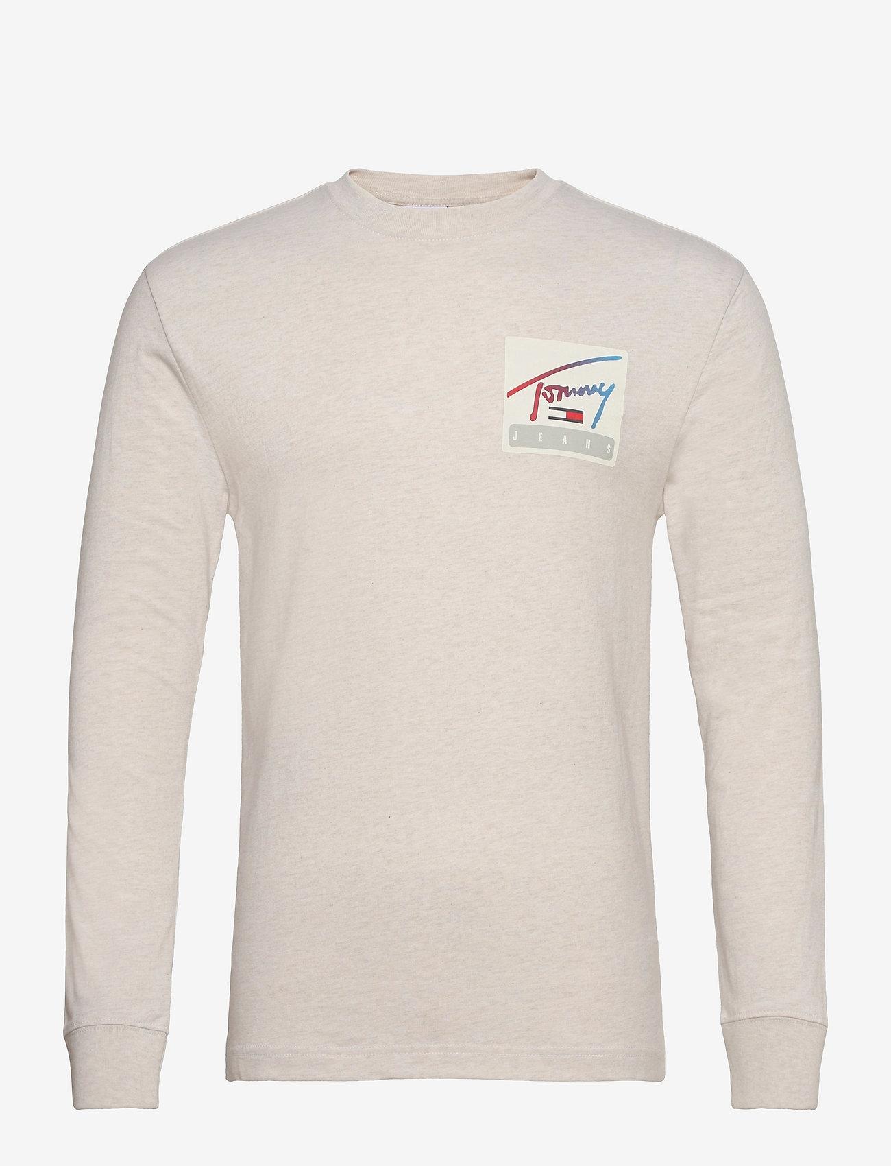 Tommy Jeans - TJM TOMMY BASKETBALL LONGSLEEVE - basic t-shirts - white - 0
