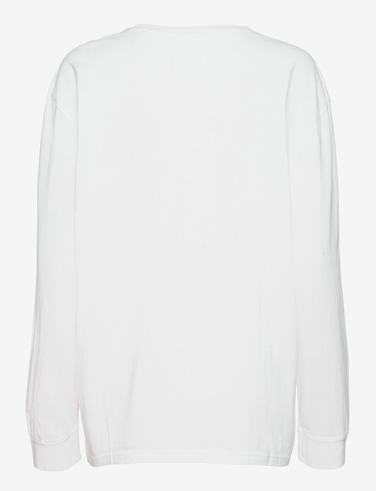 Tommy Jeans - TJM SMALL FLAG BOX LOGO TEE - långärmade t-shirts - white - 1