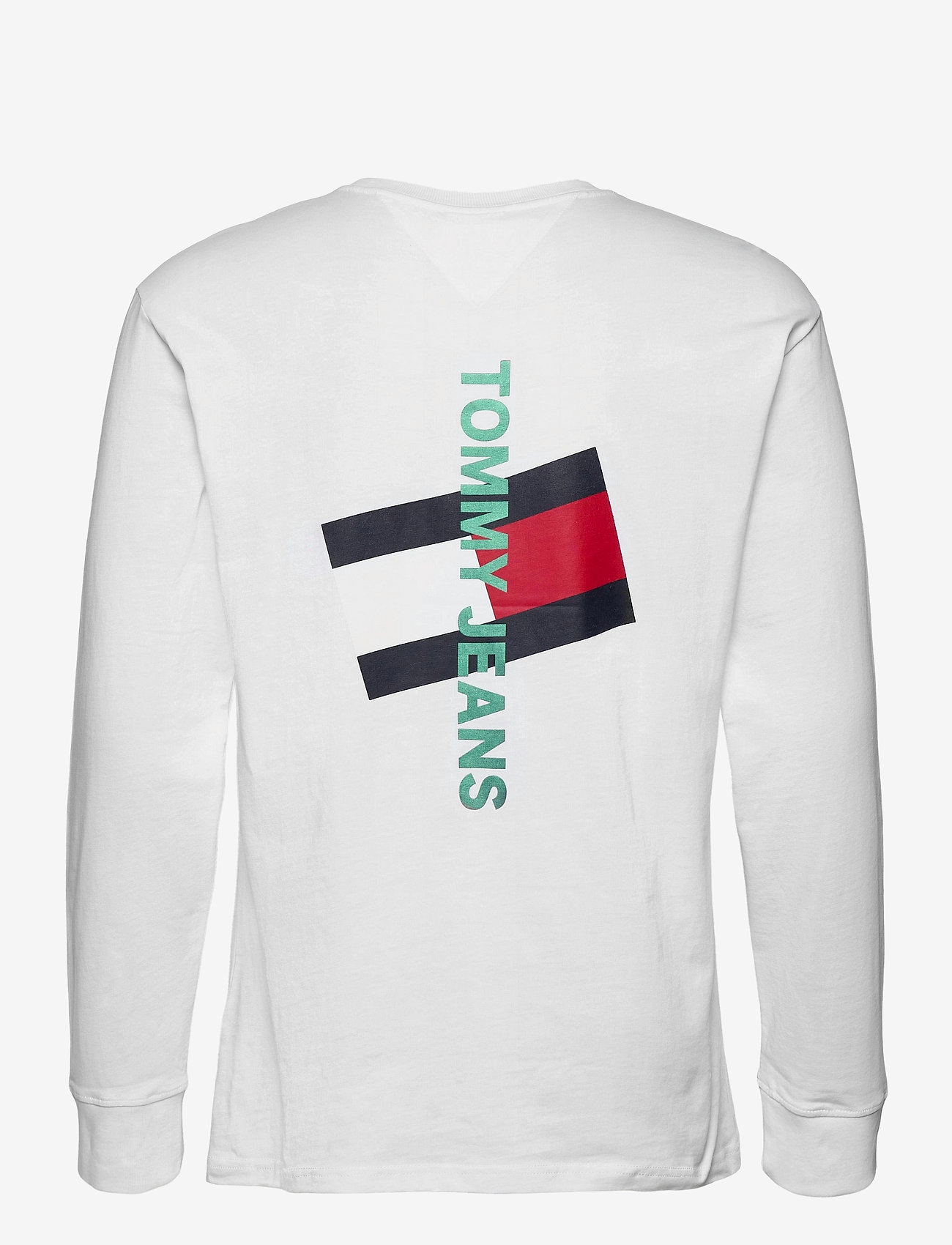 Tommy Jeans - TJM VERTICAL TOMMY LOGO TEE - långärmade t-shirts - white - 1