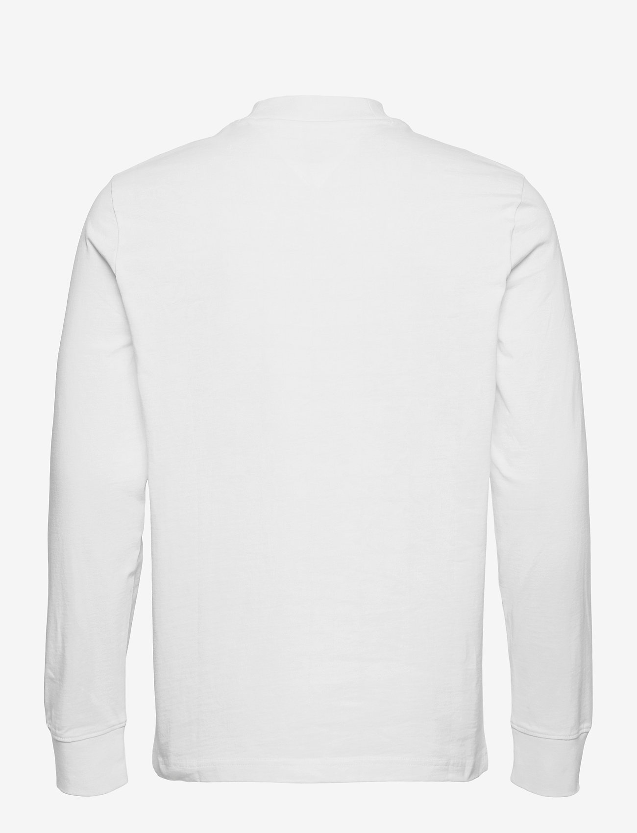 Tommy Jeans - TJM BADGE MOCK NECK LONGSLEEVE - basic t-shirts - white - 1