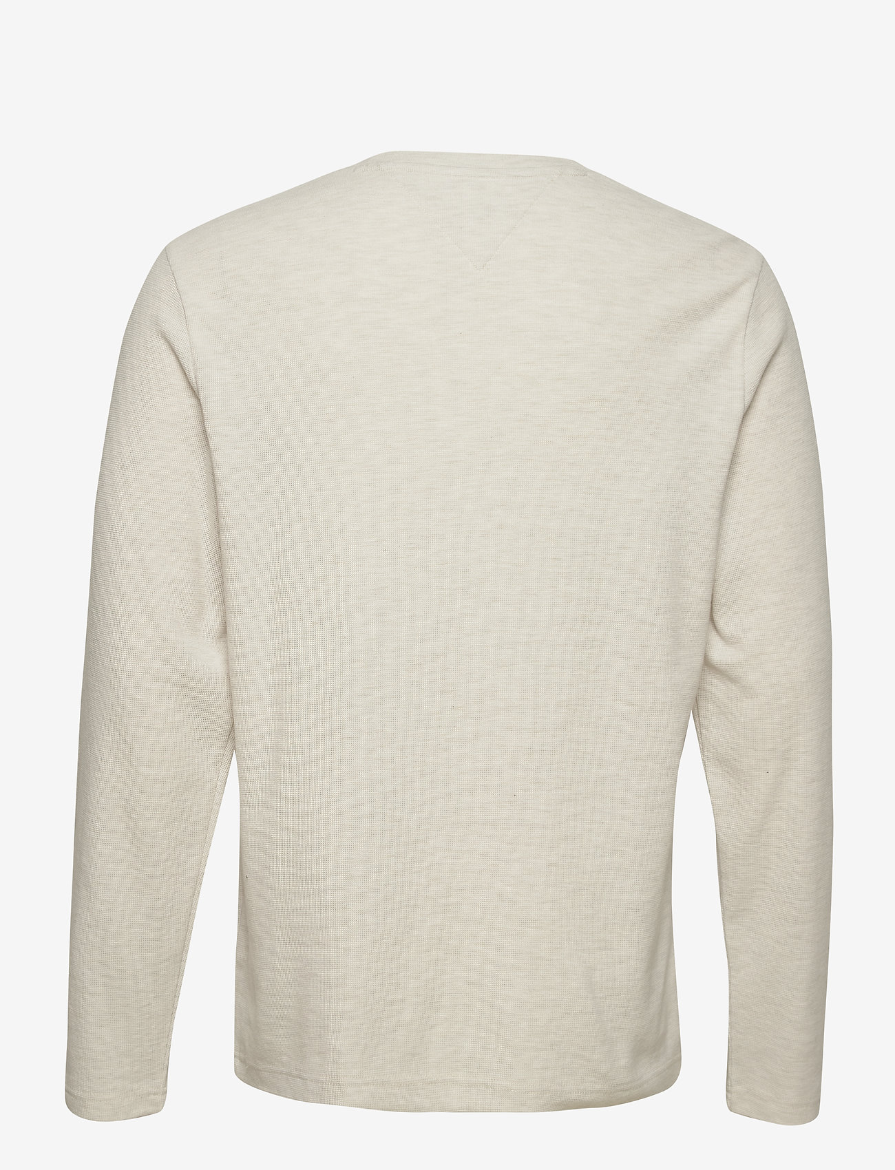 Tommy Jeans - TJM MINI WAFFLE JASPE LONGSLEEVE - basic t-shirts - white htr - 1