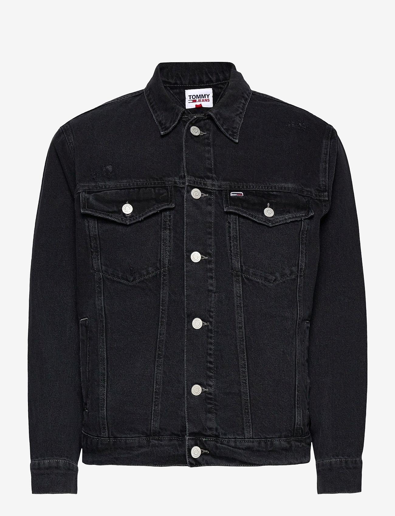 Tommy Jeans - OVERSIZE TRUCKER JACKET SSPBBRD - jeansjackor - save sp bk bk rgd destr - 0