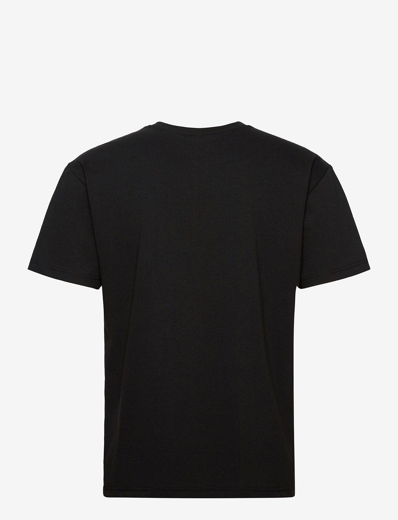 Tommy Jeans - TJM SHINE SMALL TEXT TEE C - basic t-shirts - black - 1