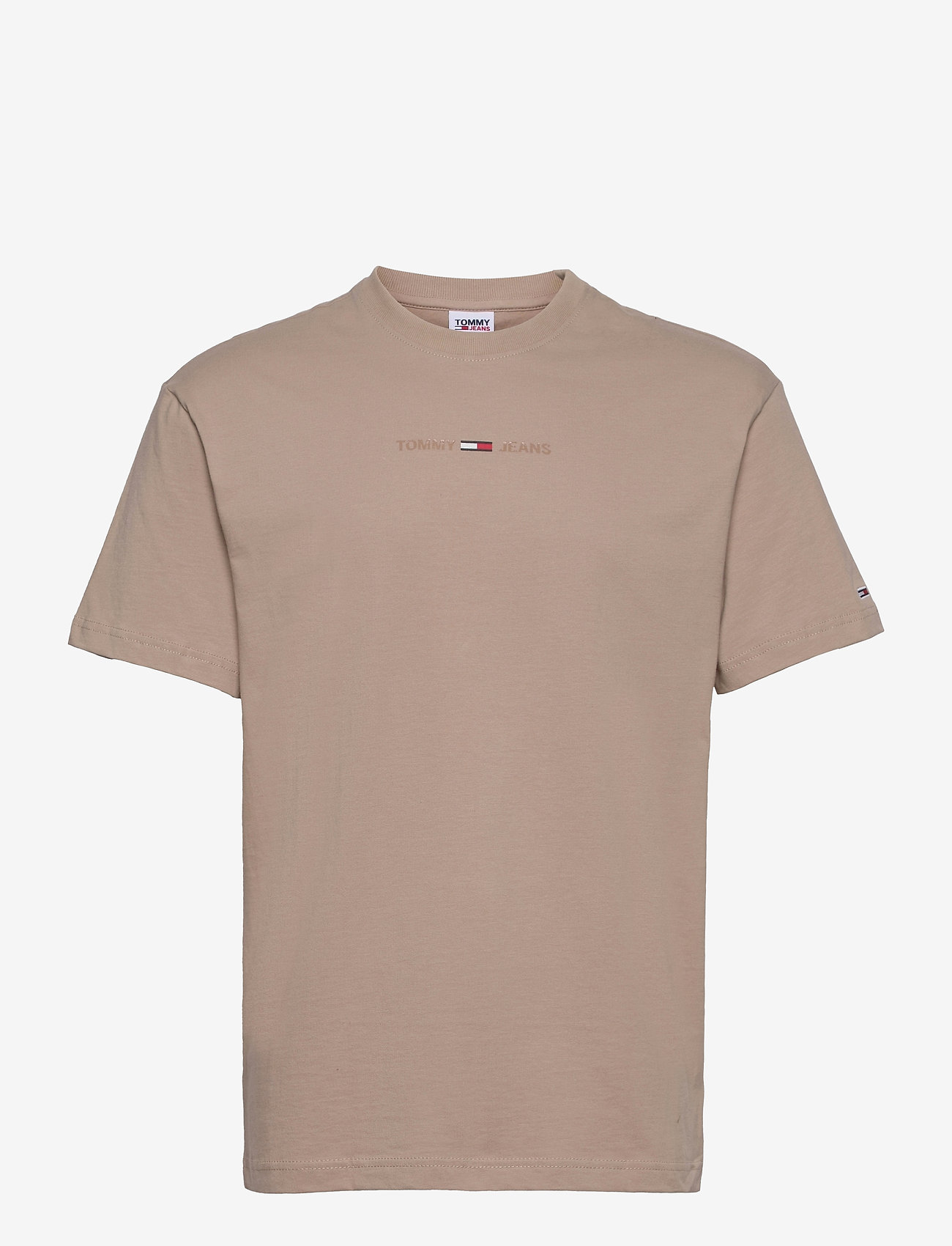 Tommy Jeans - TJM GEL LINEAR LOGO TEE - basic t-shirts - soft beige - 0