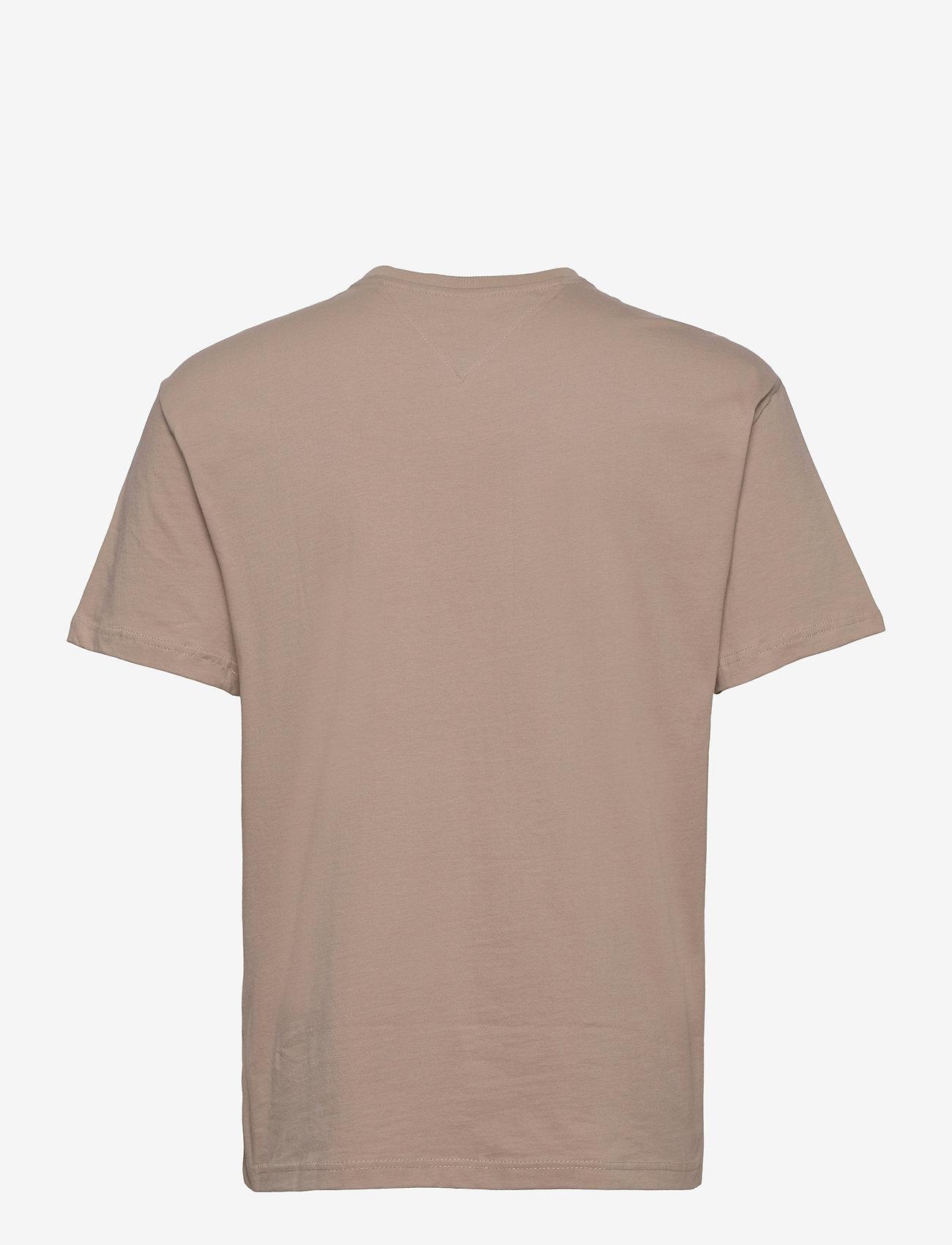 Tommy Jeans - TJM GEL LINEAR LOGO TEE - basic t-shirts - soft beige - 1