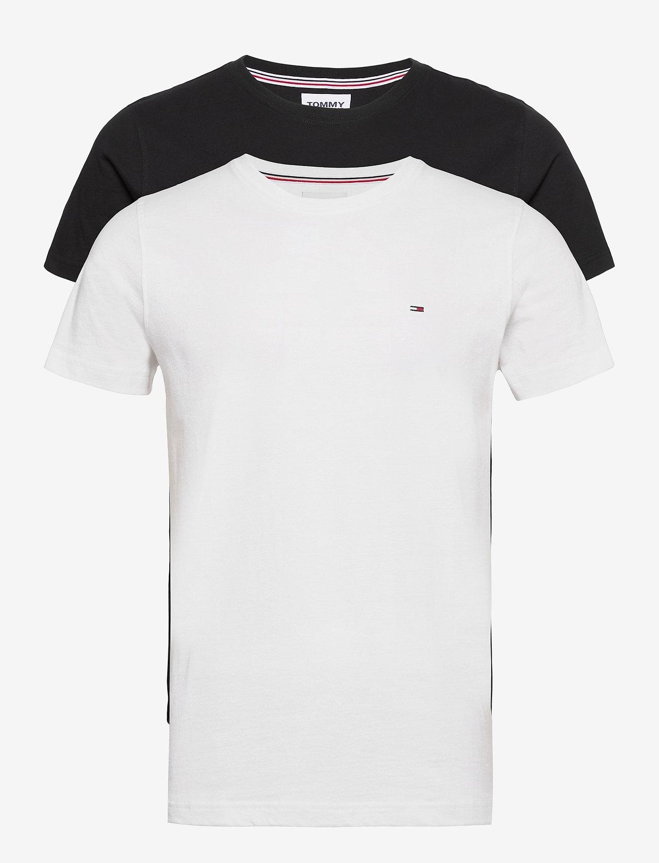 Tommy Jeans - TJM 2PACK CNECK TEES - basic t-shirts - white / black - 0