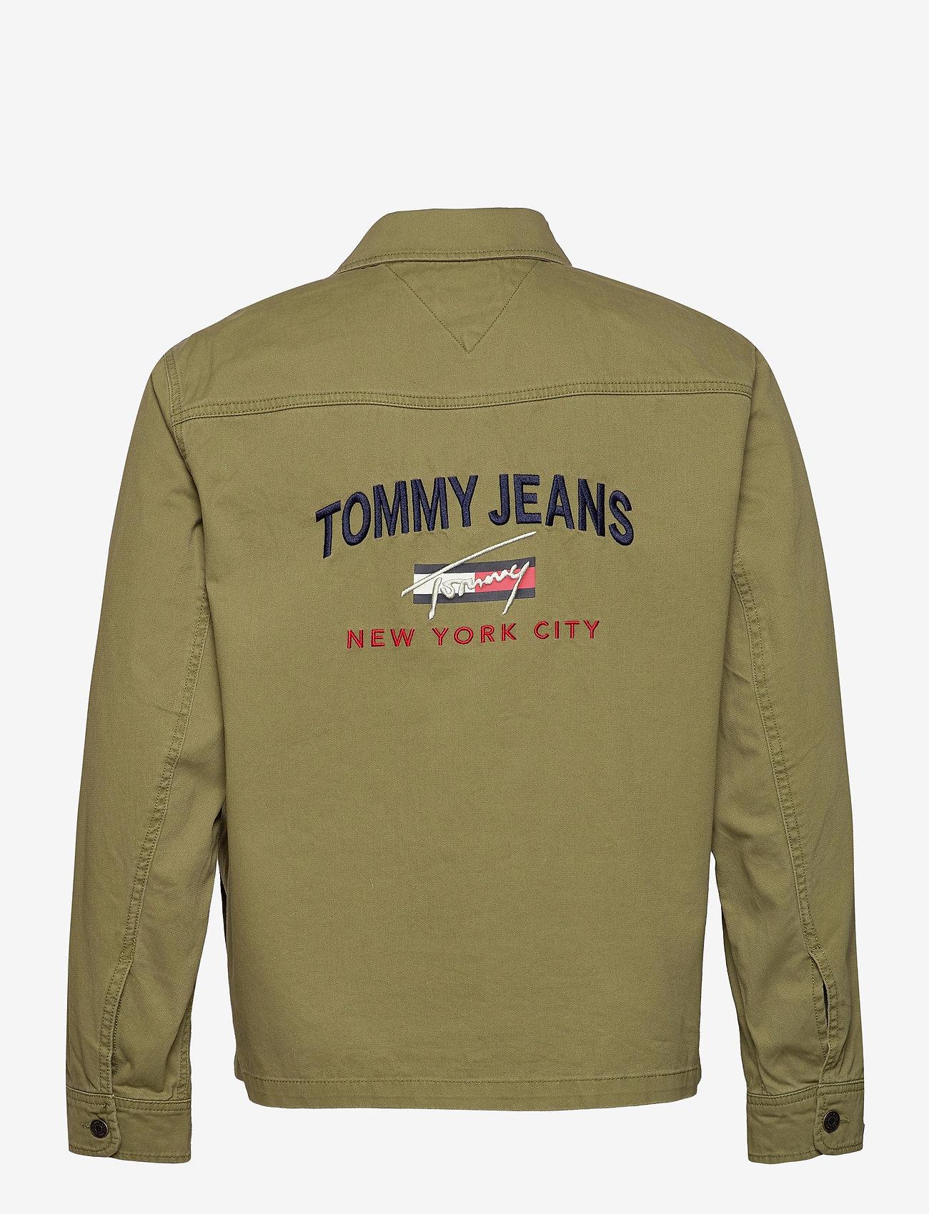 Tommy Jeans - TJ US BACK GRAPHIC OVERSHIRT - kläder - uniform olive - 1