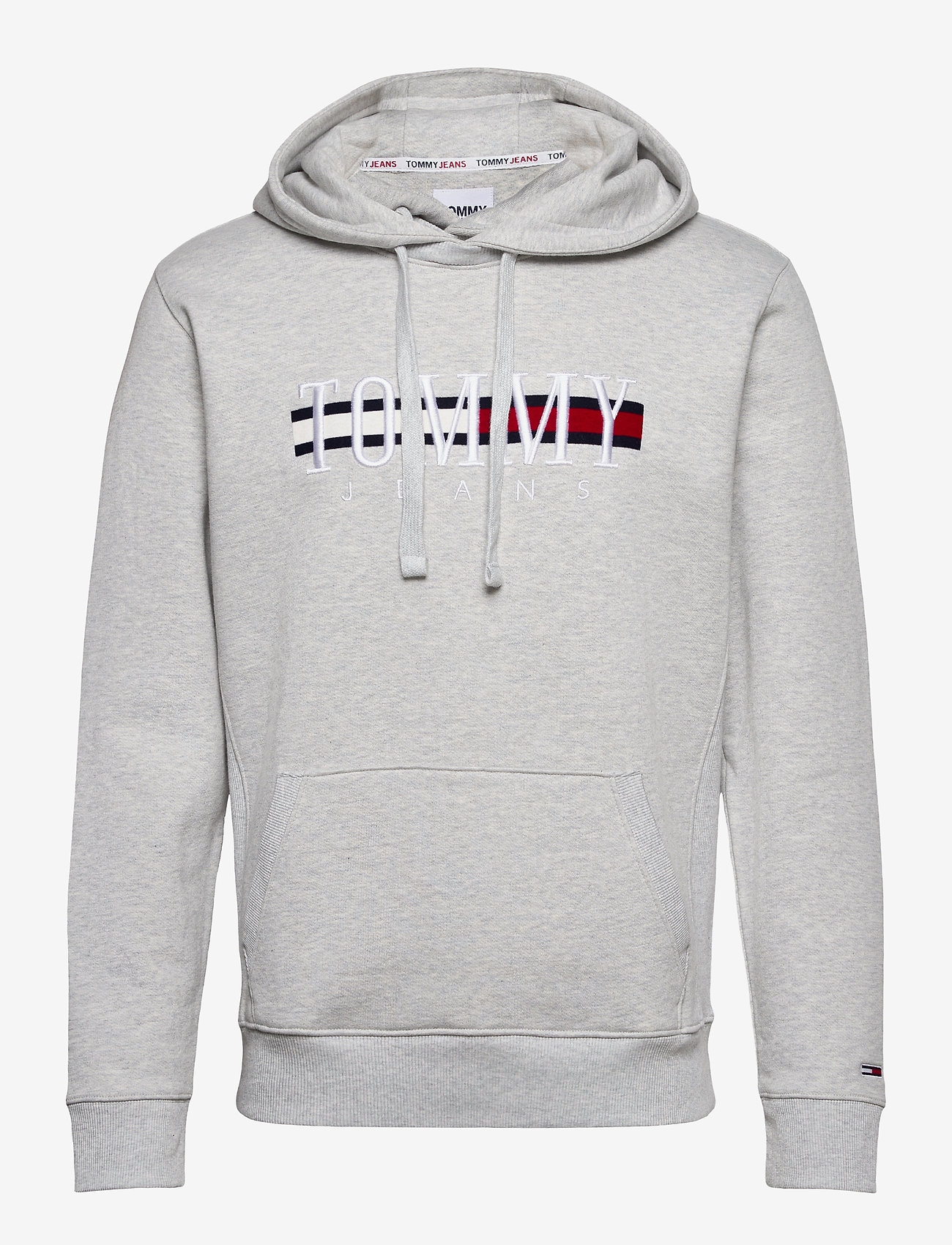 Tommy Jeans - TJM TIMELESS TOMMY HOODIE 2 C - hoodies - silver grey htr - 0