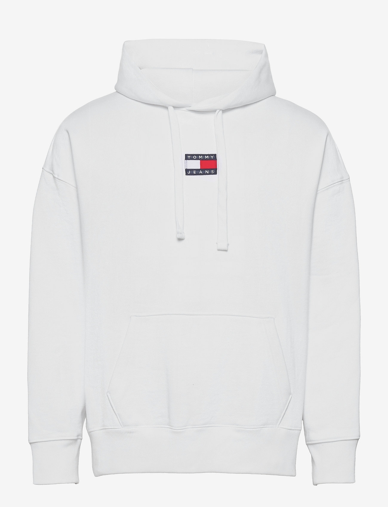 Tommy Jeans - TJM TOMMY BADGE HOODIE - hoodies - white - 0