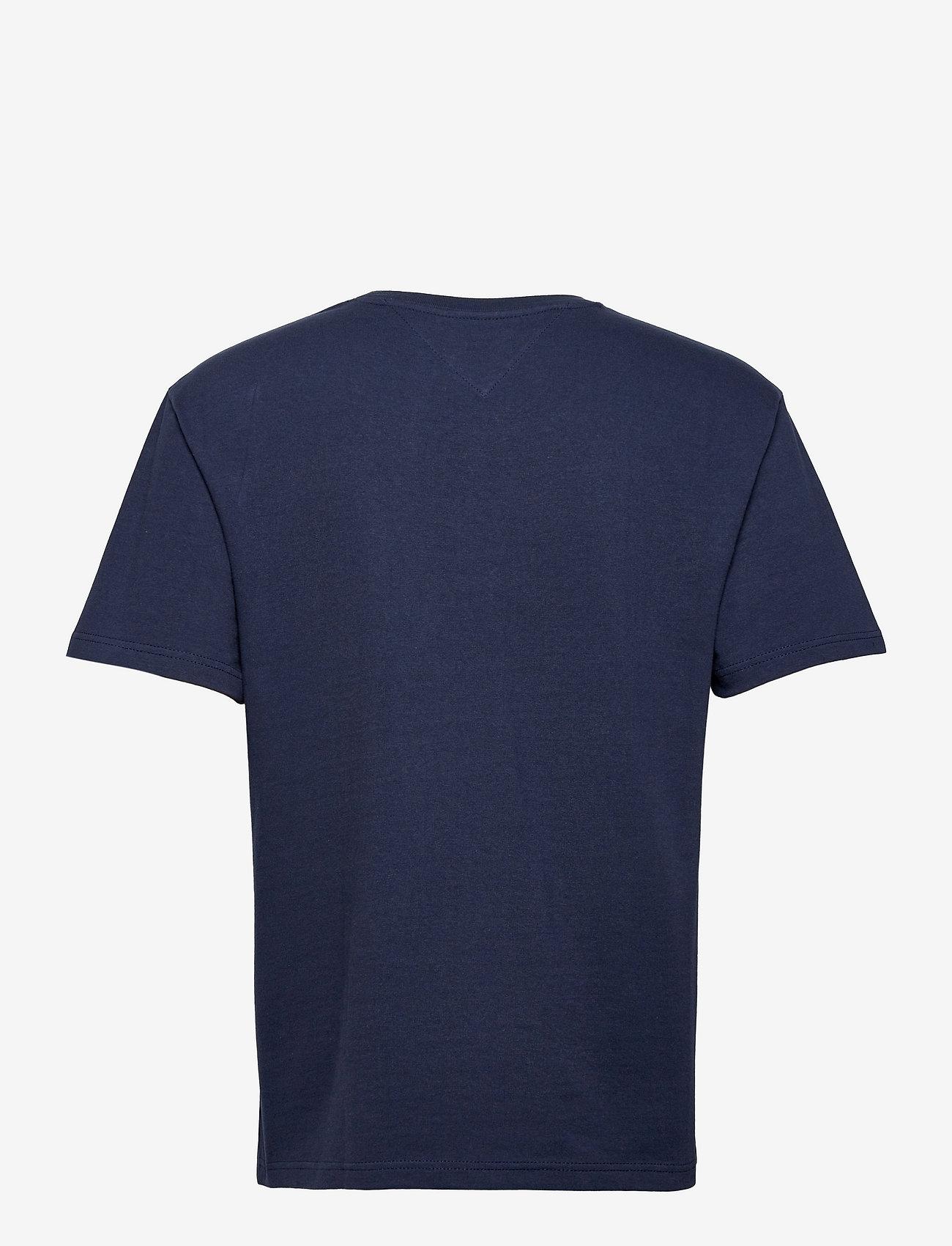 Tommy Jeans - TJM TOMMY BADGE TEE - kortärmade t-shirts - twilight navy - 1