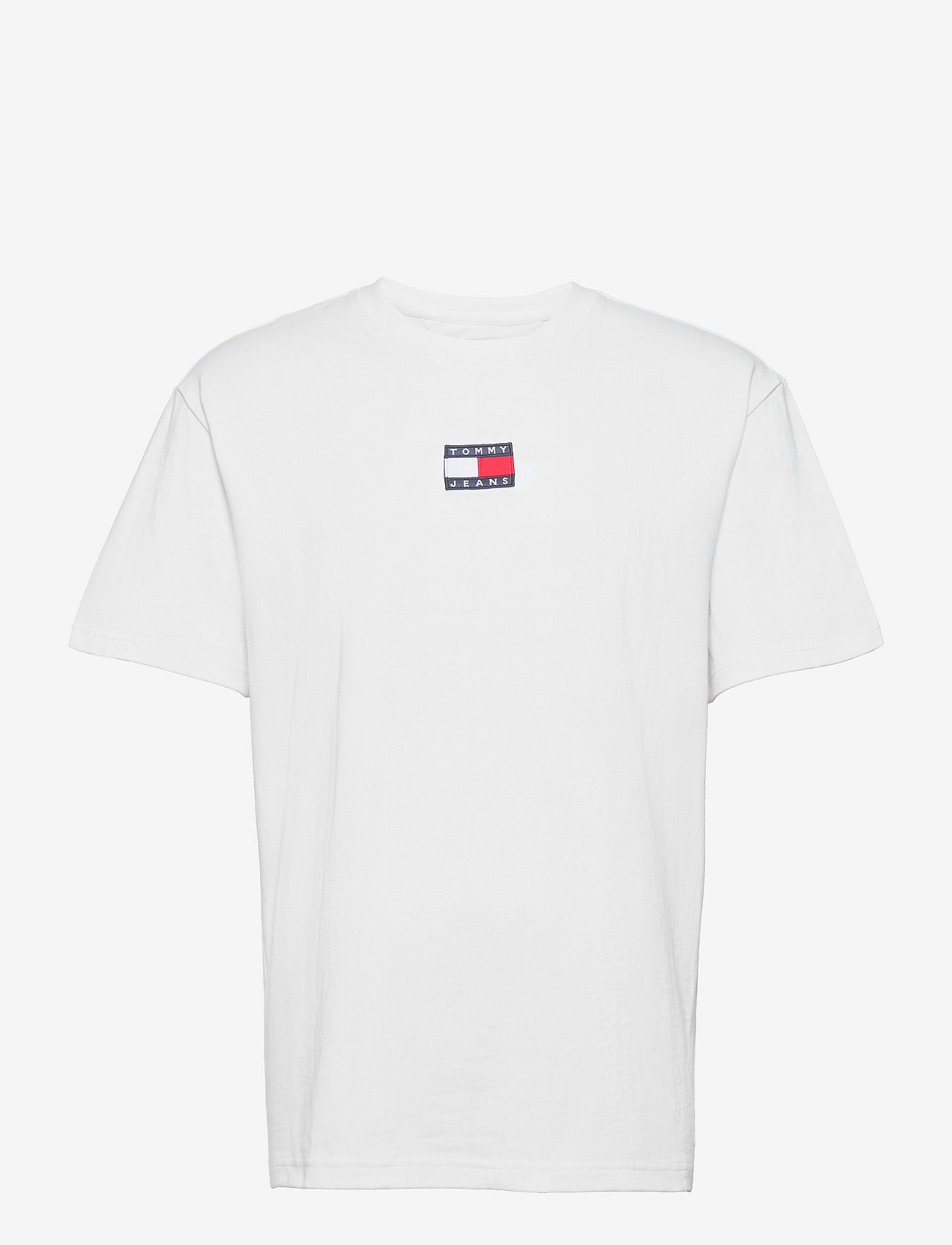 Tommy Jeans - TJM TOMMY BADGE TEE - kortärmade t-shirts - white - 0