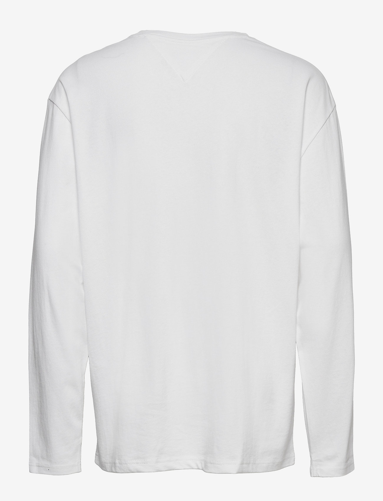 Tommy Jeans - TJM LS TOMMY BADGE TEE - långärmade t-shirts - white - 1