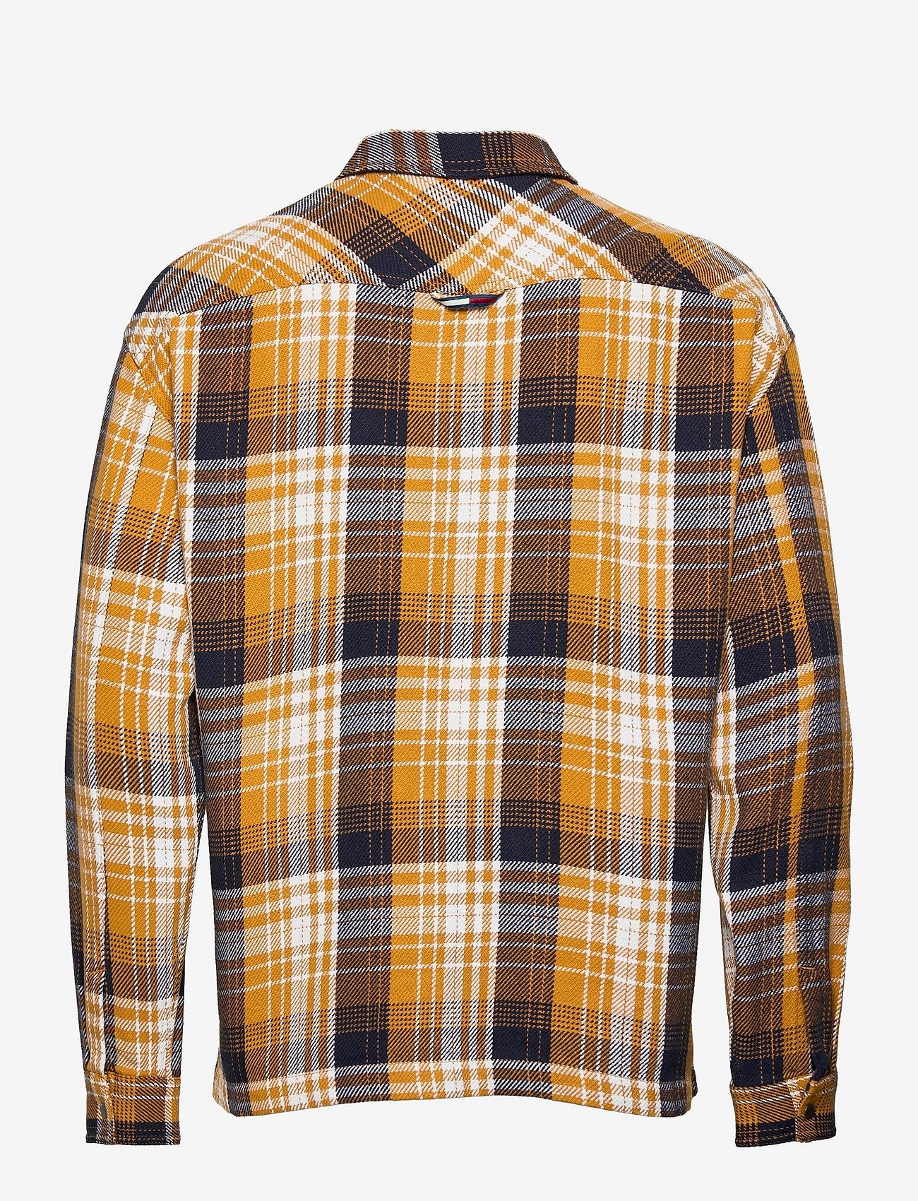 Tommy Jeans - TJM CHECK ZIP OVERSHIRT - kläder - golden age / multi - 1