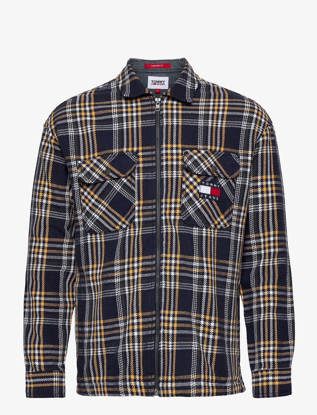 Tommy Jeans - TJM CHECK ZIP OVERSHIRT - kläder - twilight navy / multi - 0