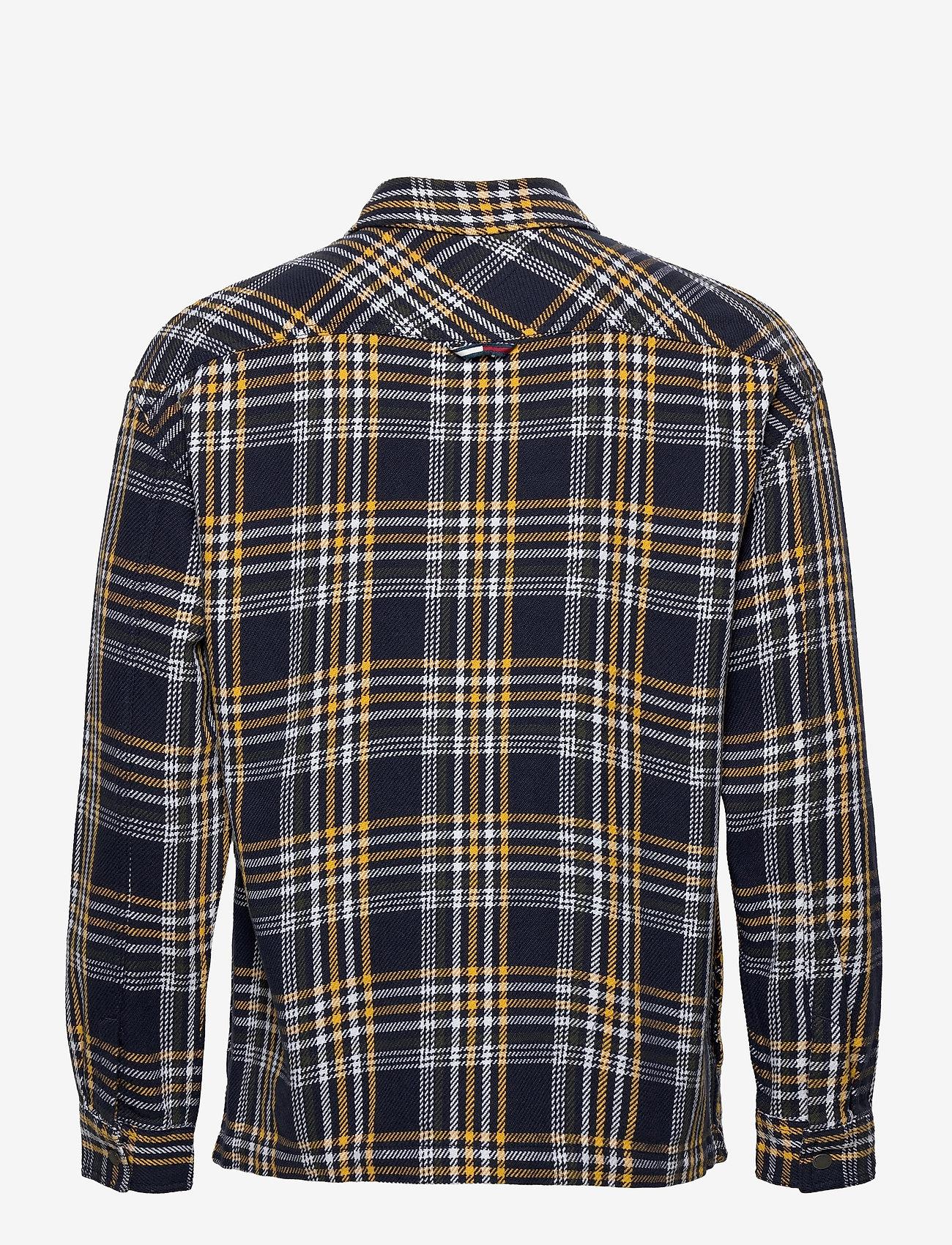 Tommy Jeans - TJM CHECK ZIP OVERSHIRT - kläder - twilight navy / multi - 1