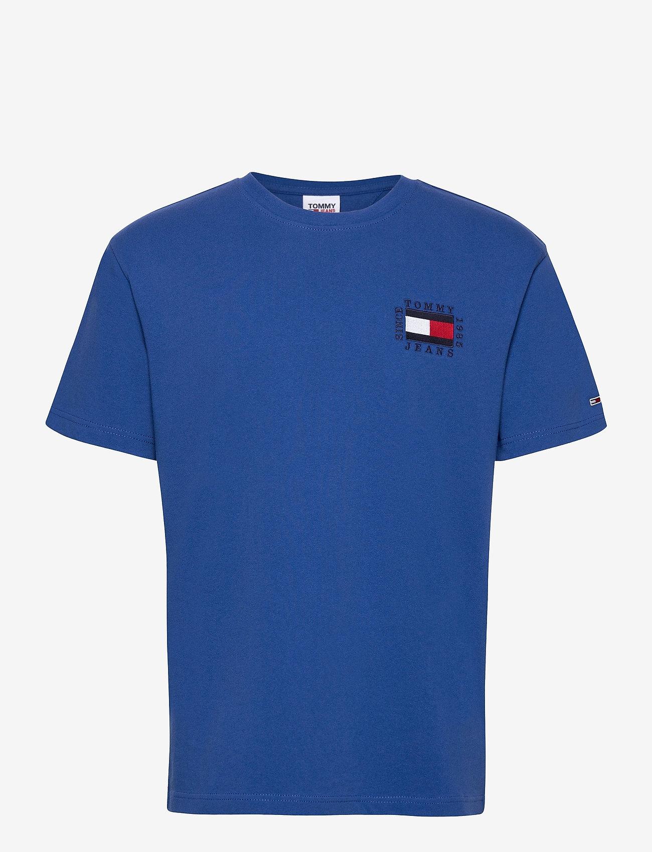 Tommy Jeans - TJM BOX FLAG TEE - basic t-shirts - providence blue - 0