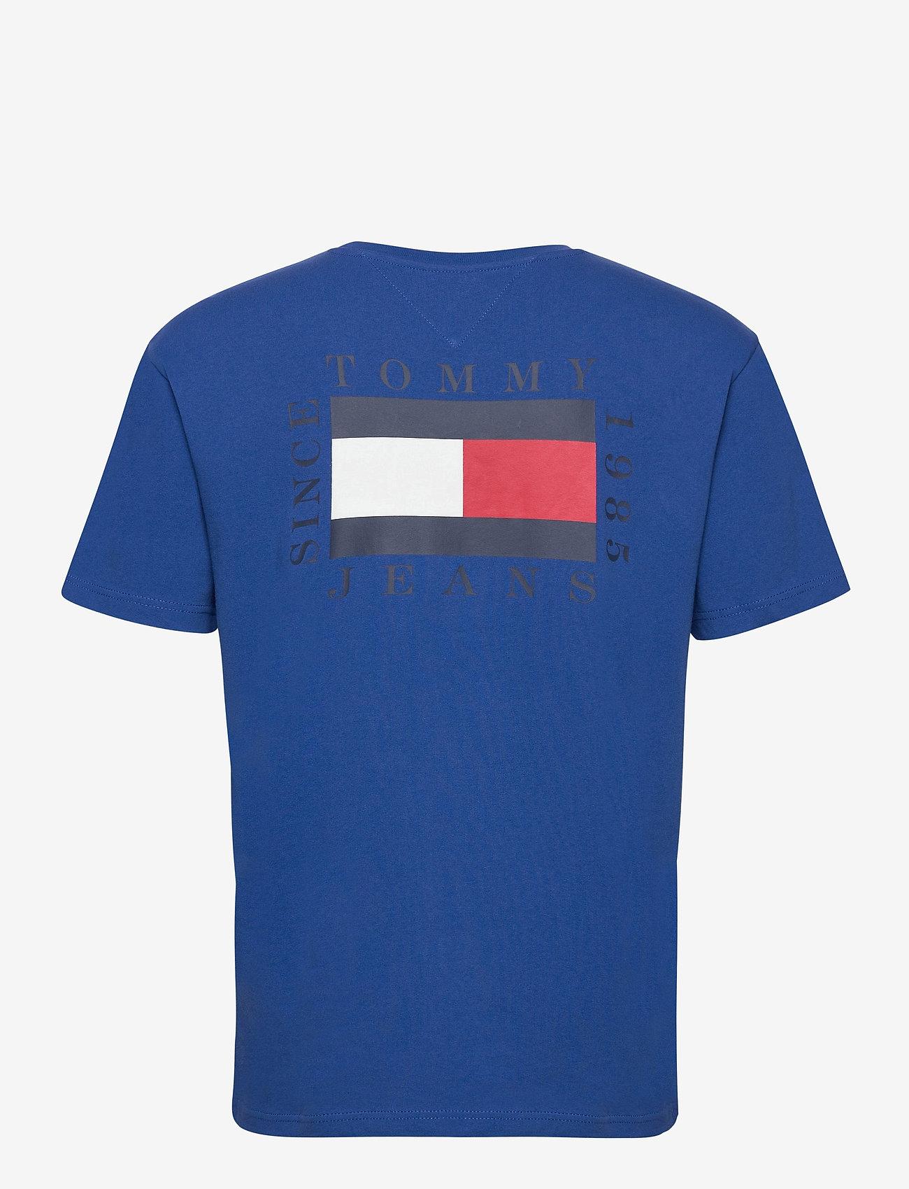 Tommy Jeans - TJM BOX FLAG TEE - basic t-shirts - providence blue - 1