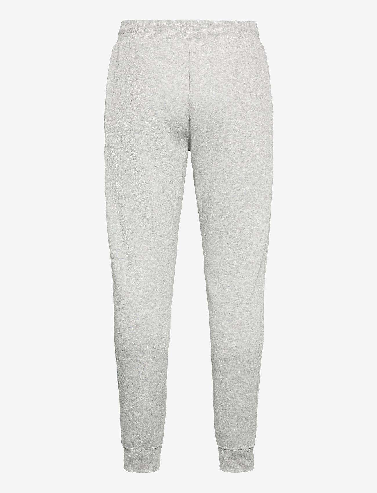 Tommy Jeans - TJM SLIM BOX FLAG SWEAT PANT - joggingbyxor - light grey heather - 1