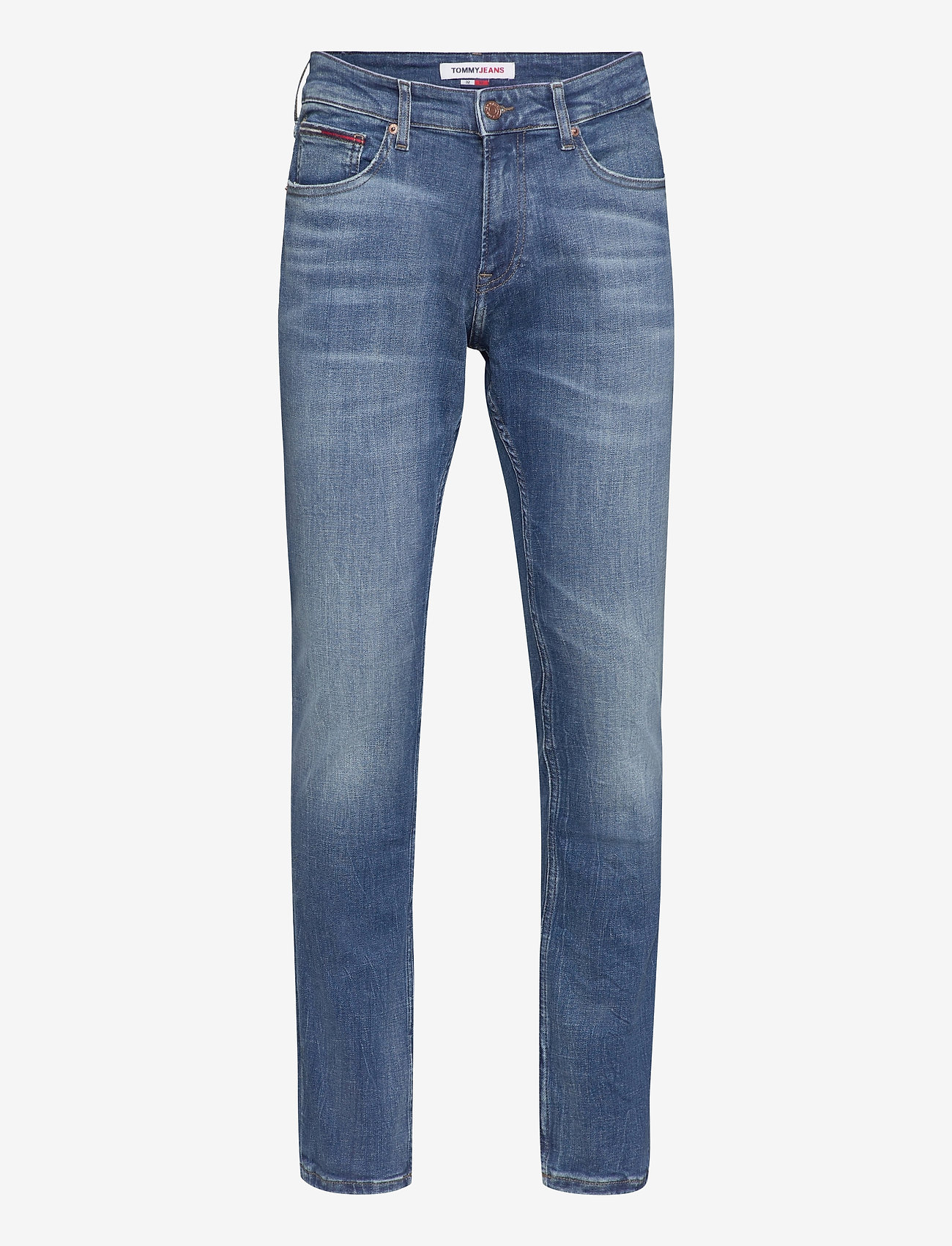 Tommy Jeans - SCANTON CE 132 MID BLUE STRETCH - slim jeans - mid blue - 0