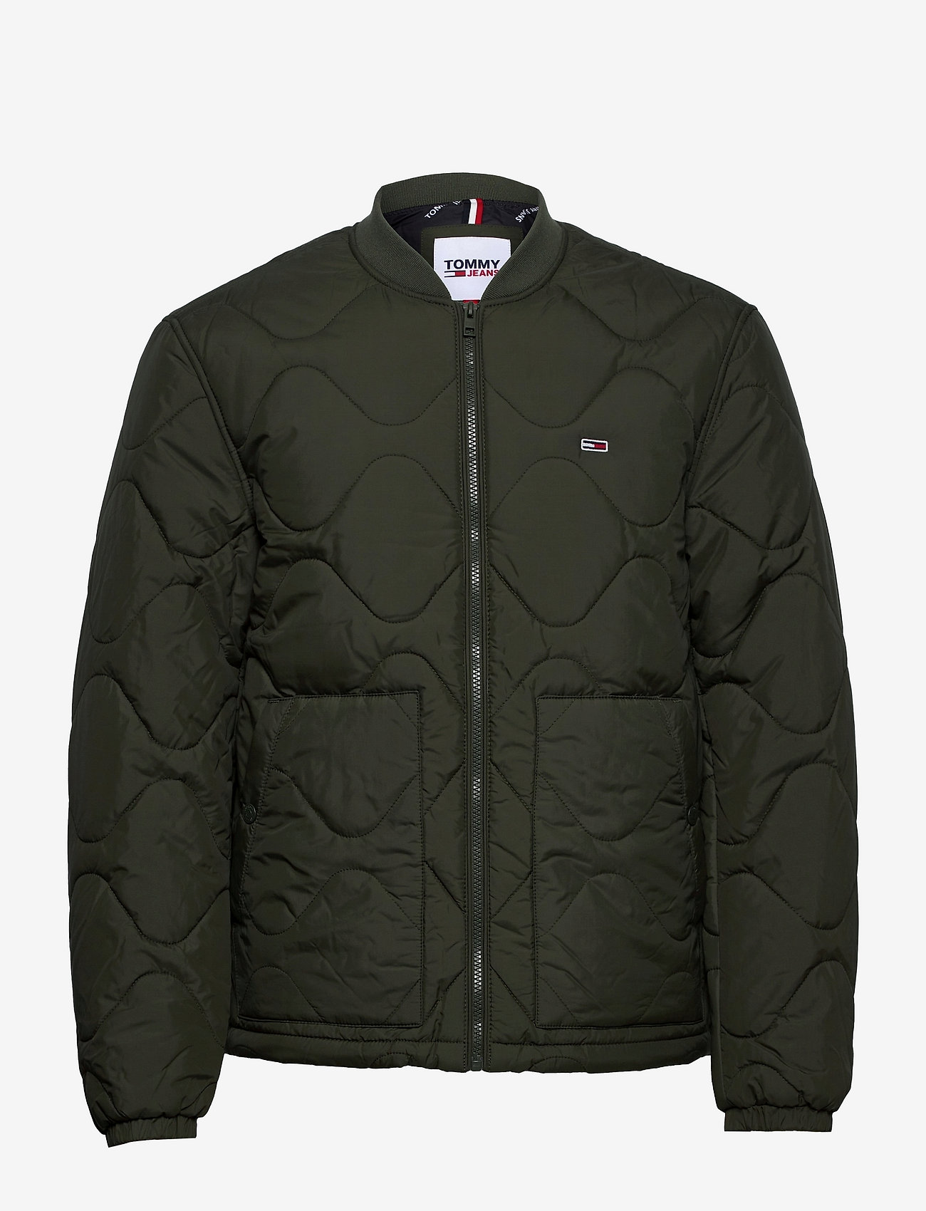 Tommy Jeans - TJM QUILTED BOMBER - quilted jackets - dark olive - 0