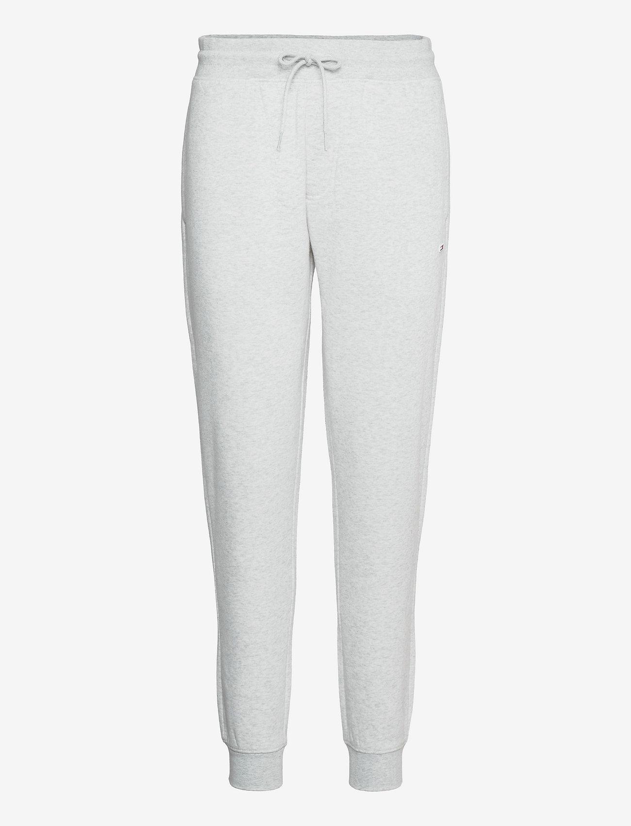 Tommy Jeans - TJM SLIM FLEECE SWEATPANT - kläder - silver grey htr - 0