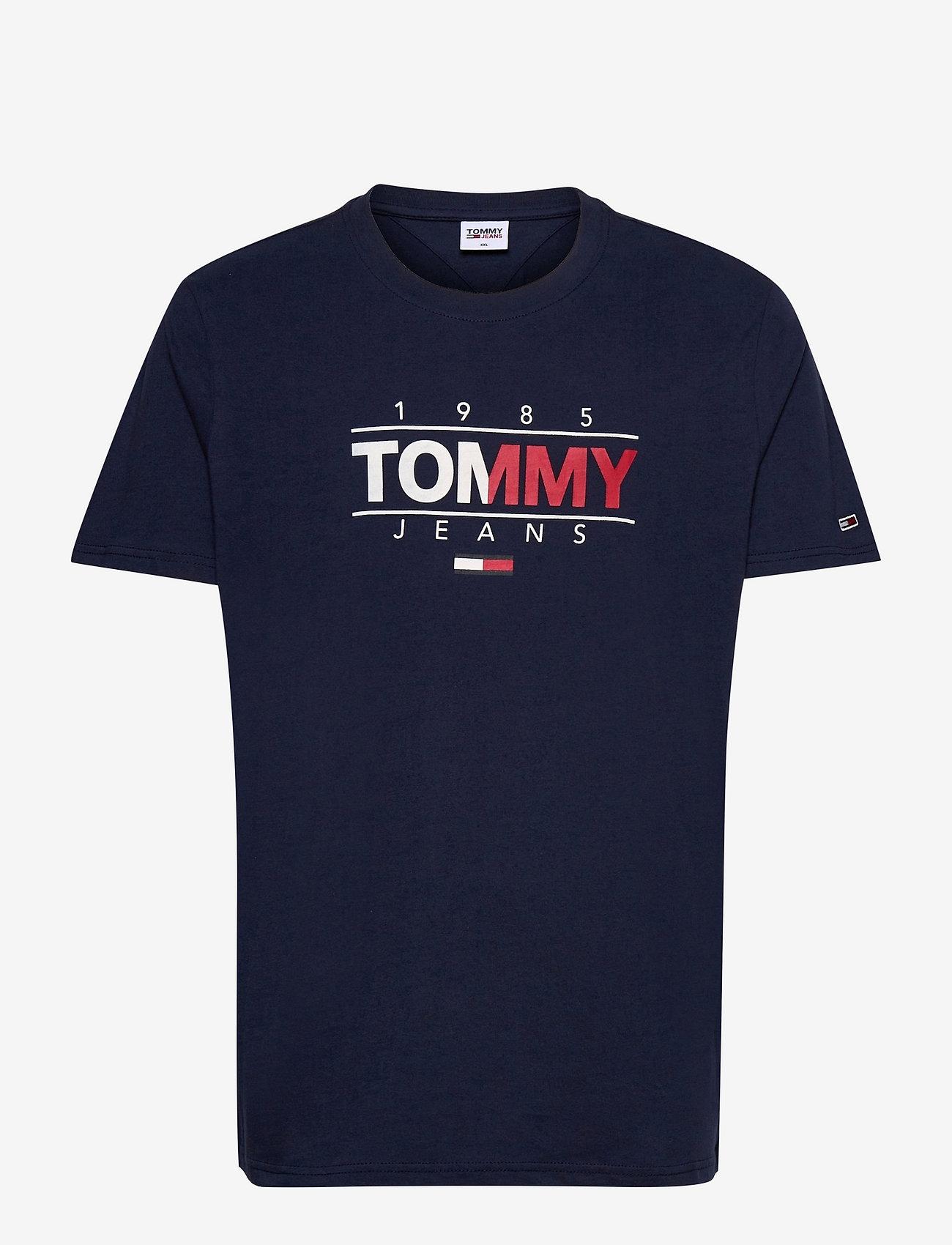 Tommy Jeans - TJM ESSENTIAL GRAPHIC TEE - kortärmade t-shirts - twilight navy - 0