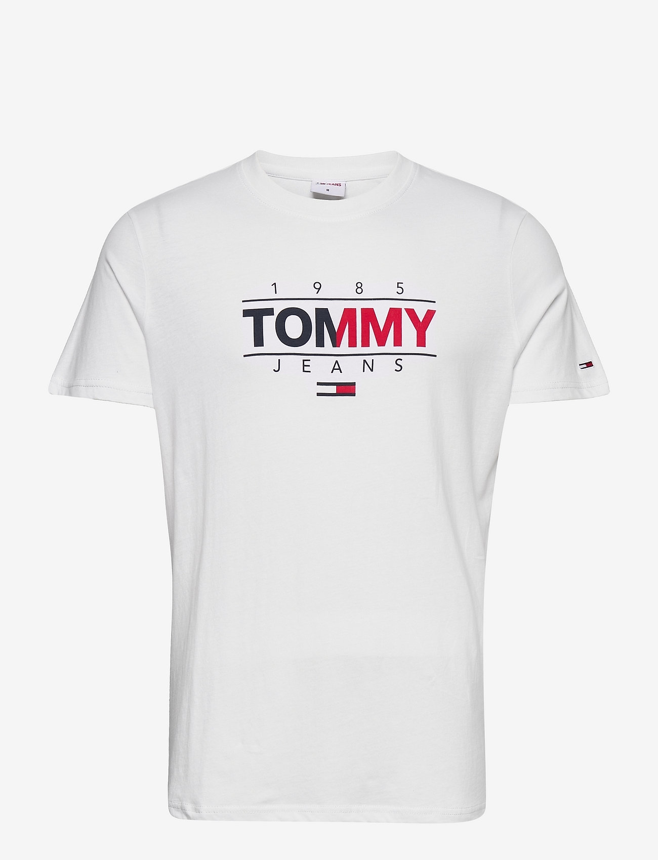 Tommy Jeans - TJM ESSENTIAL GRAPHIC TEE - kortärmade t-shirts - white - 0