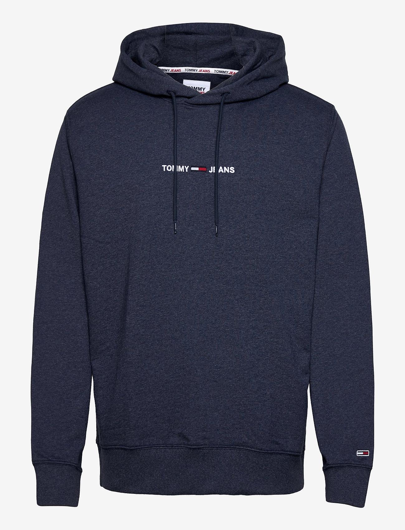 Tommy Jeans - TJM STRAIGHT LOGO HOODIE - hoodies - twilight navy htr - 0