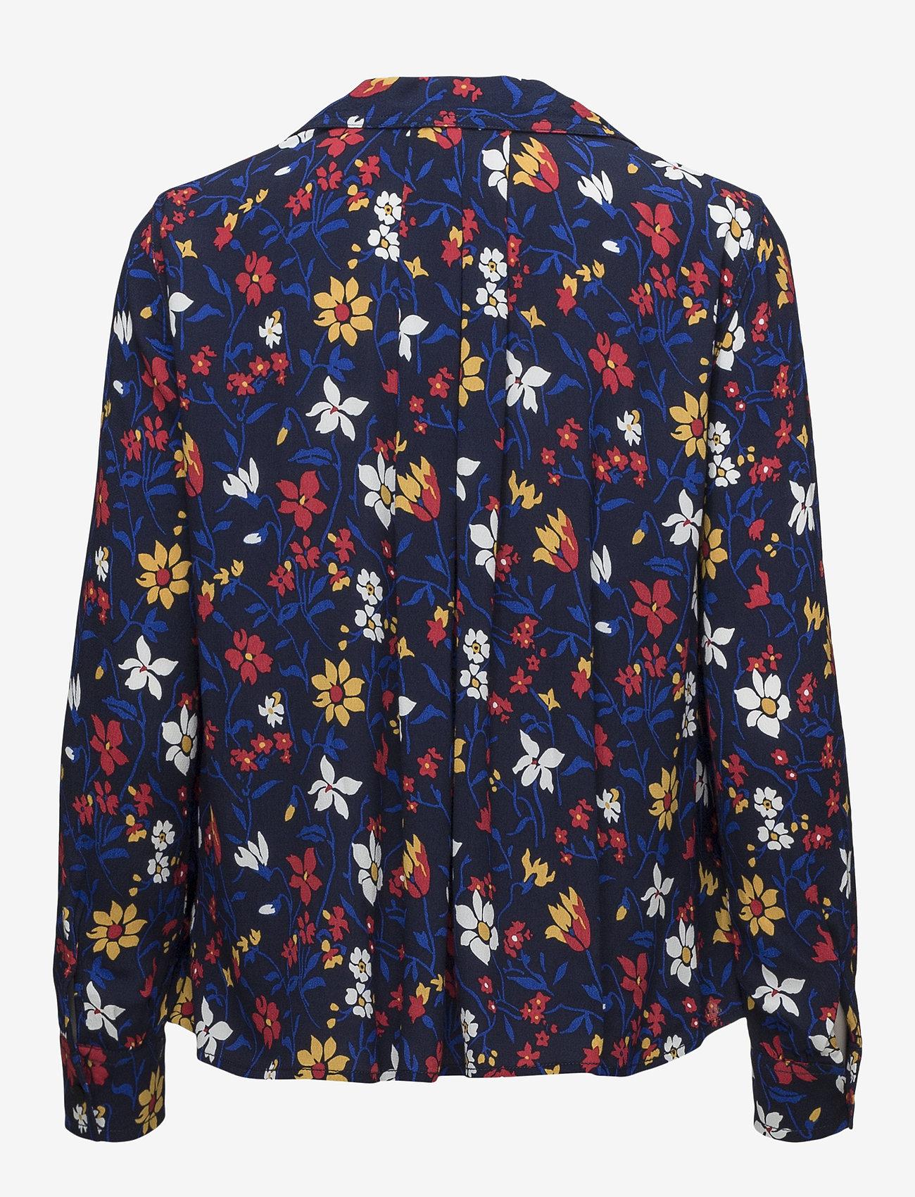 Tommy Jeans Tjw Essential Open Neck Blouse - Blusar & Skjortor Vintage Floral Print