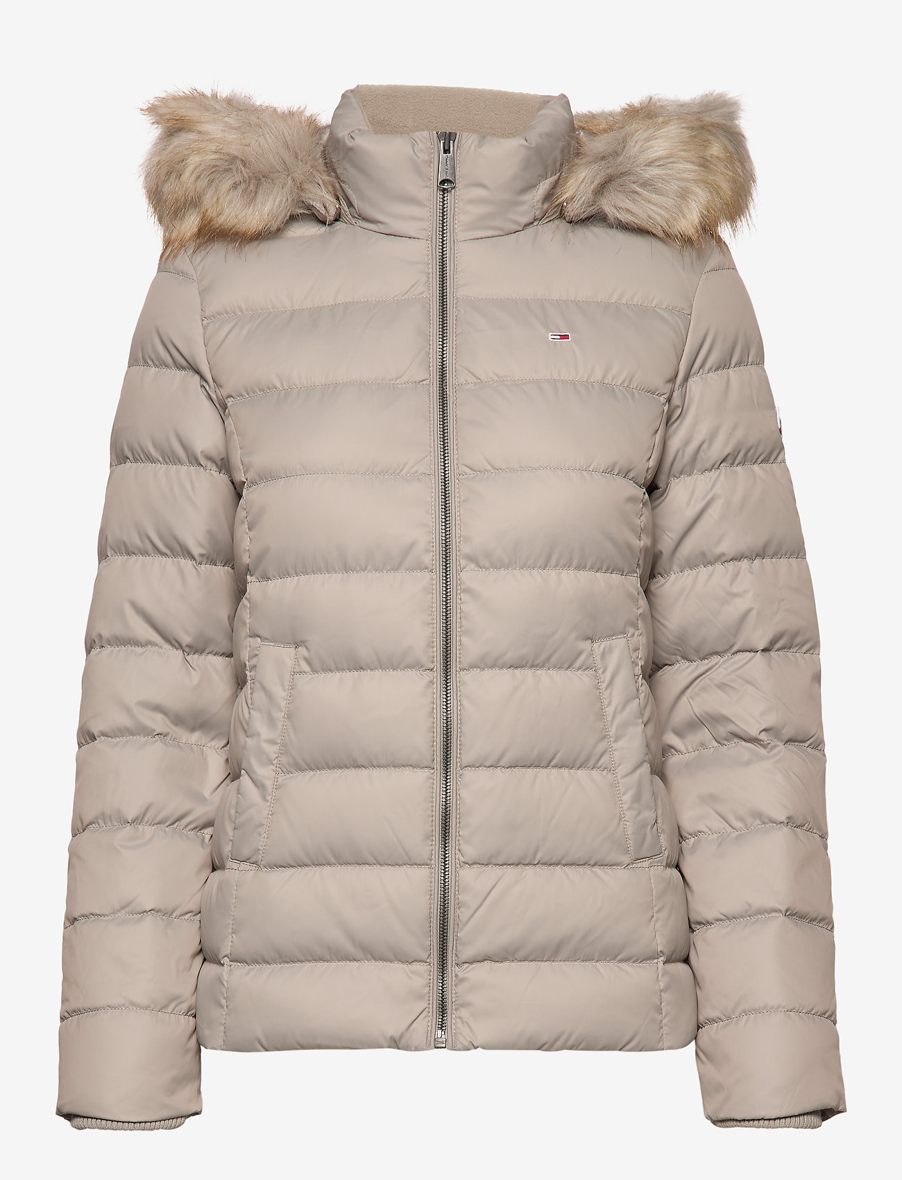 Tommy Jeans - TJW ESSENTIAL HOODED - padded jackets - mourning dove - 1