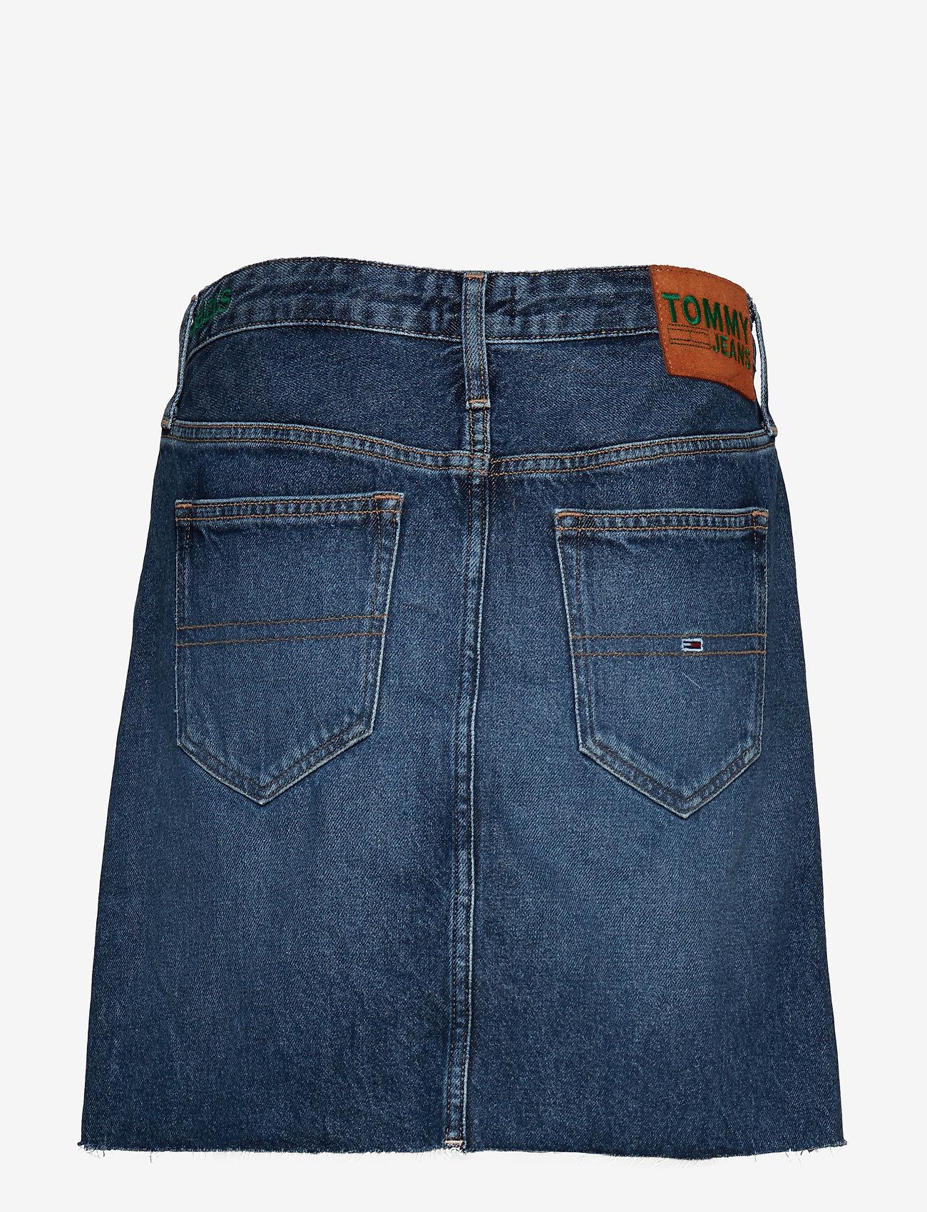 Tommy Jeans - TJ SHORT DENIM SKIRT - jupes courtes - tj save mid bl rig - 1