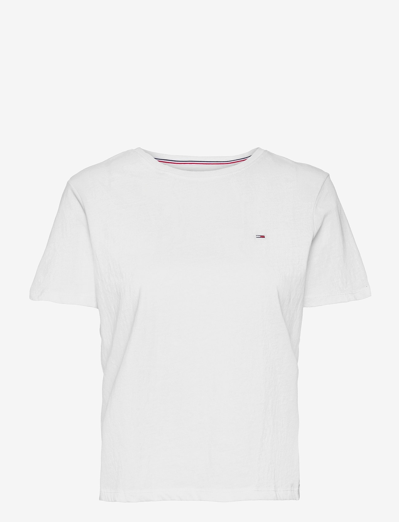 Tommy Jeans - TJW SOFT JERSEY TEE - t-shirts - white - 0