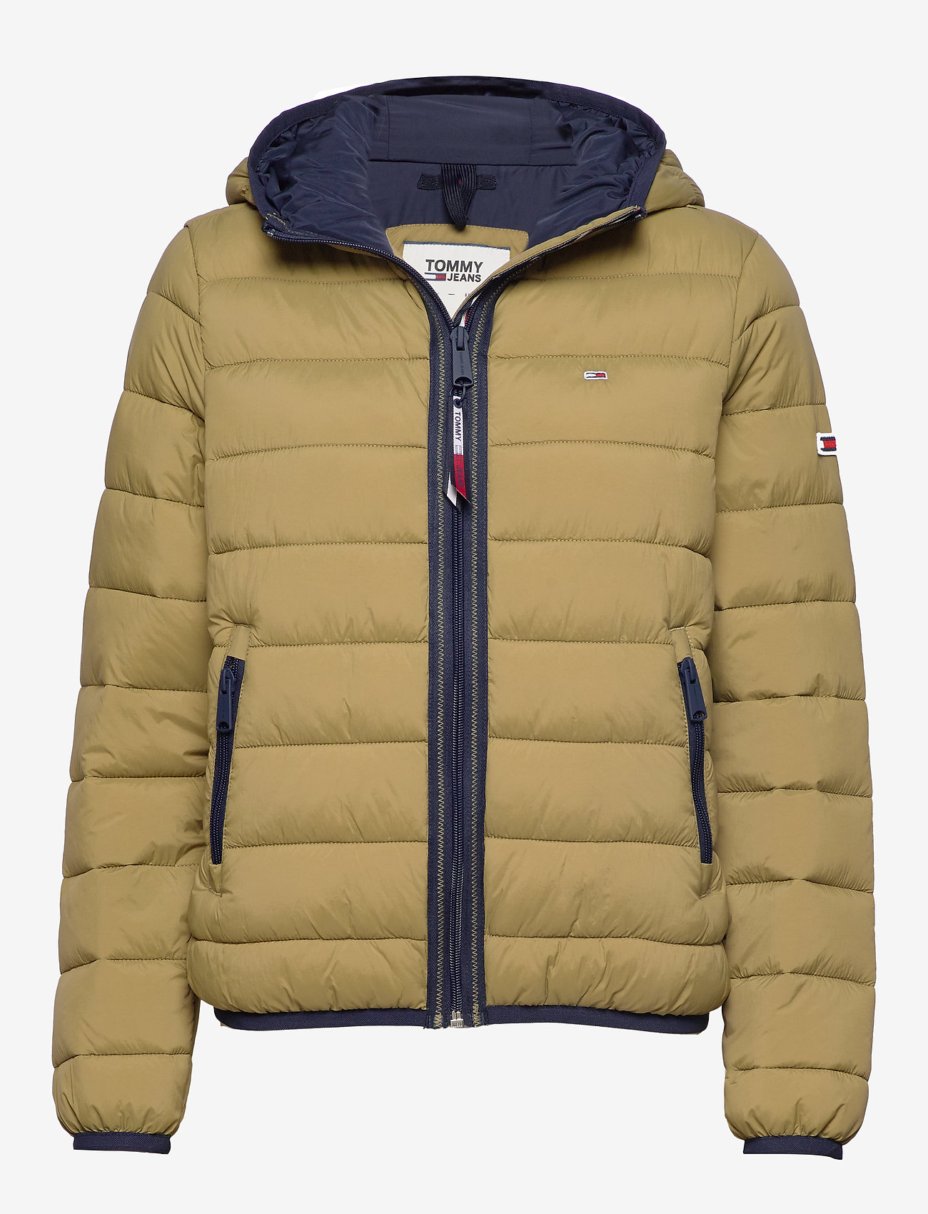 Tommy Jeans - TJW QUILTED TAPE DETAIL JACKET - padded jackets - martini olive - 0