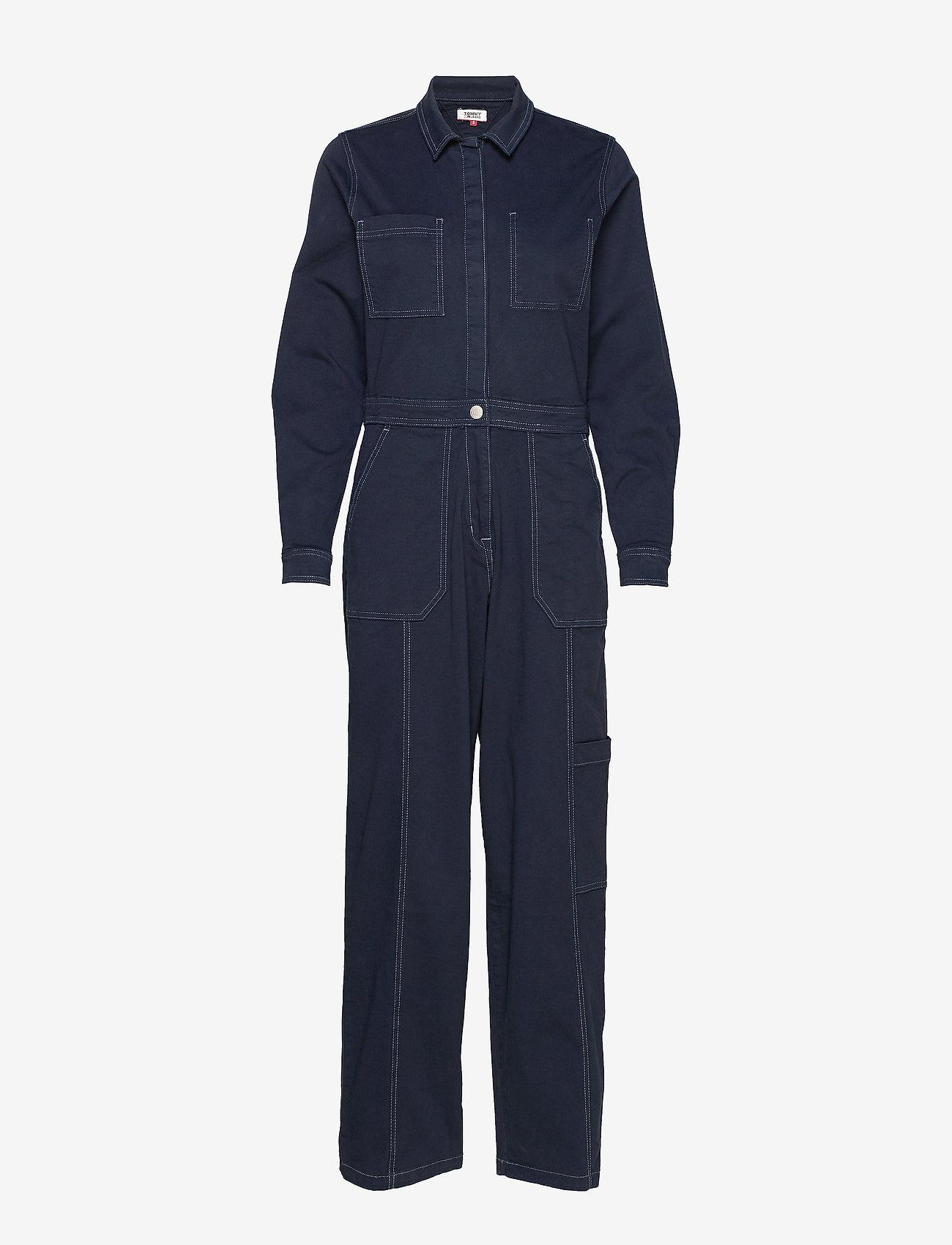 Tommy Jeans - TJW REGULAR JUMPSUIT BLKC - buksedragter - black iris com - 0