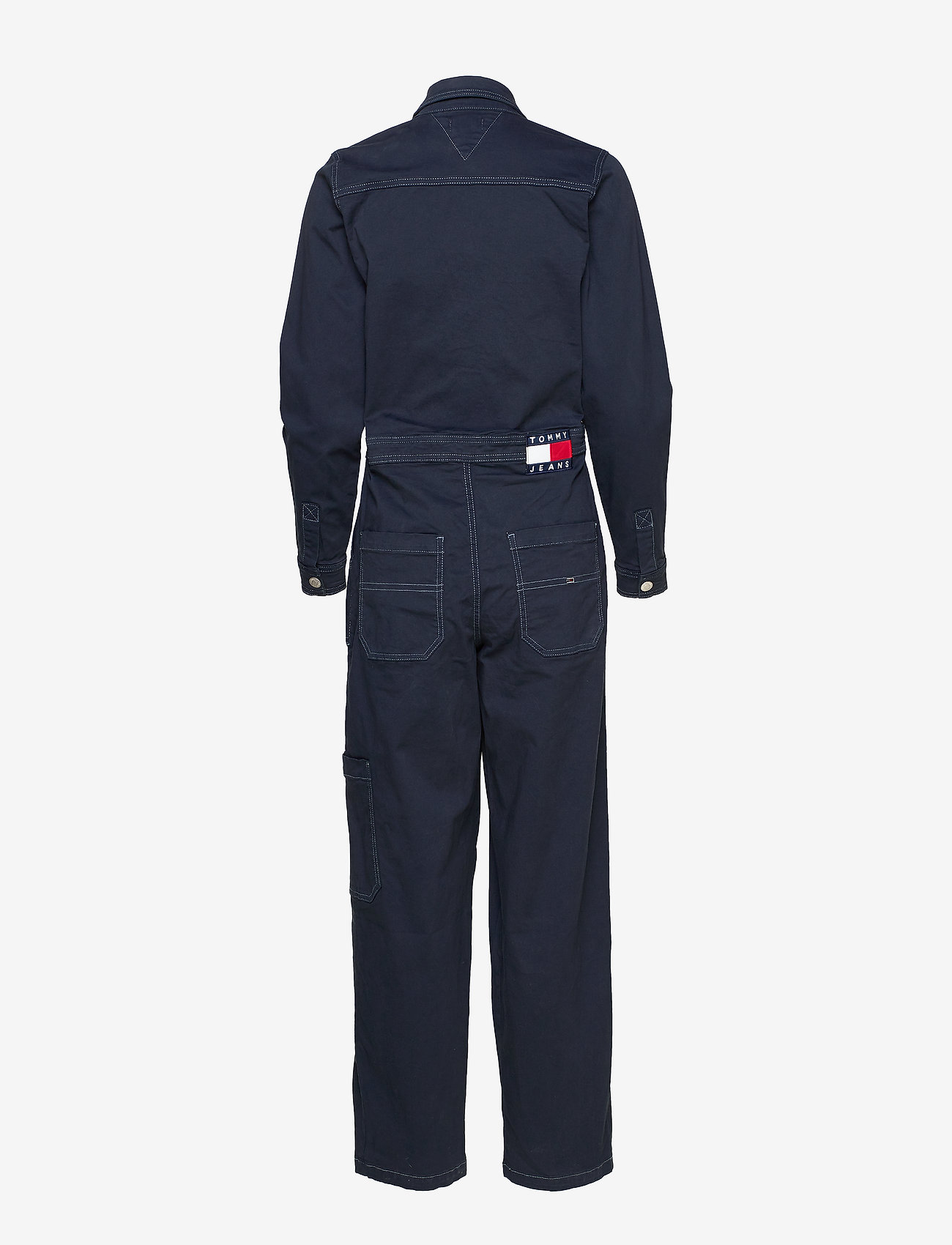 Tommy Jeans - TJW REGULAR JUMPSUIT BLKC - buksedragter - black iris com - 1