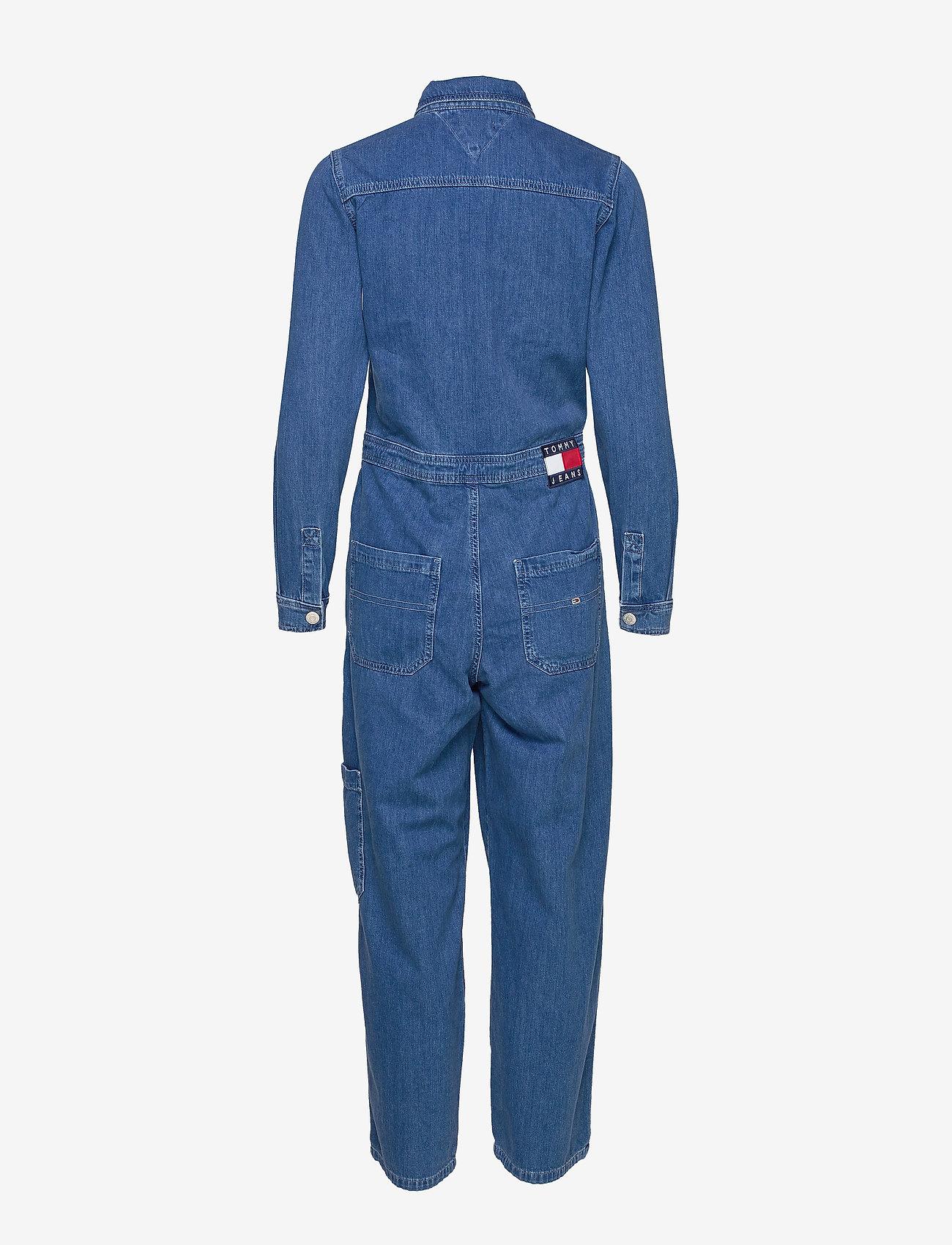 Tommy Jeans - TJW REGULAR JUMPSUIT MCMD - buksedragter - mec mid bl rig - 1